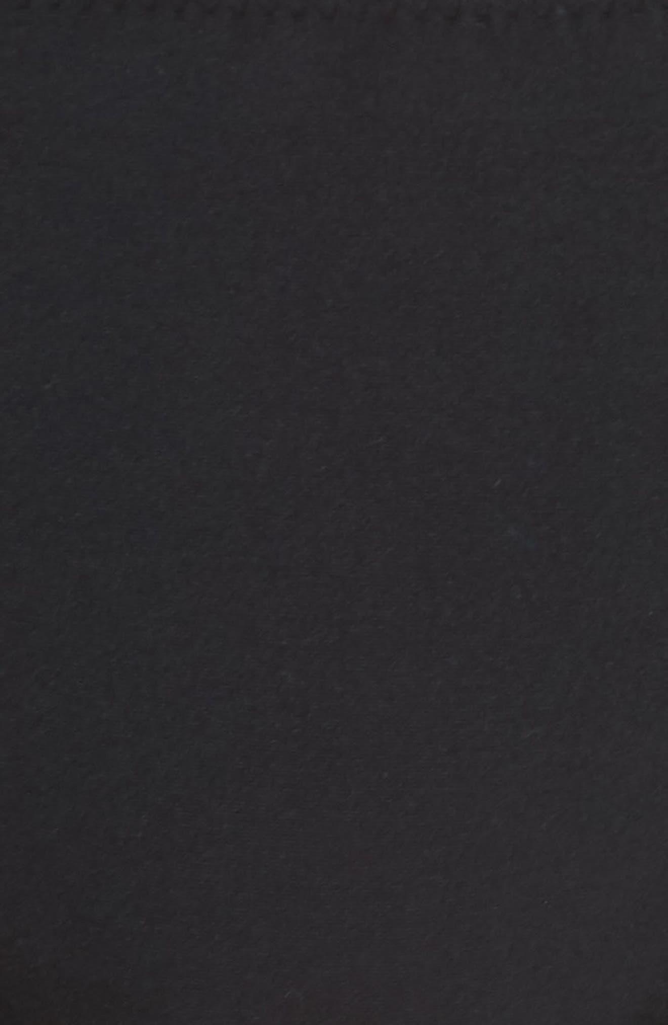CHELSEA28, Scallop Hipster Bikini Bottoms, Alternate thumbnail 6, color, BLACK