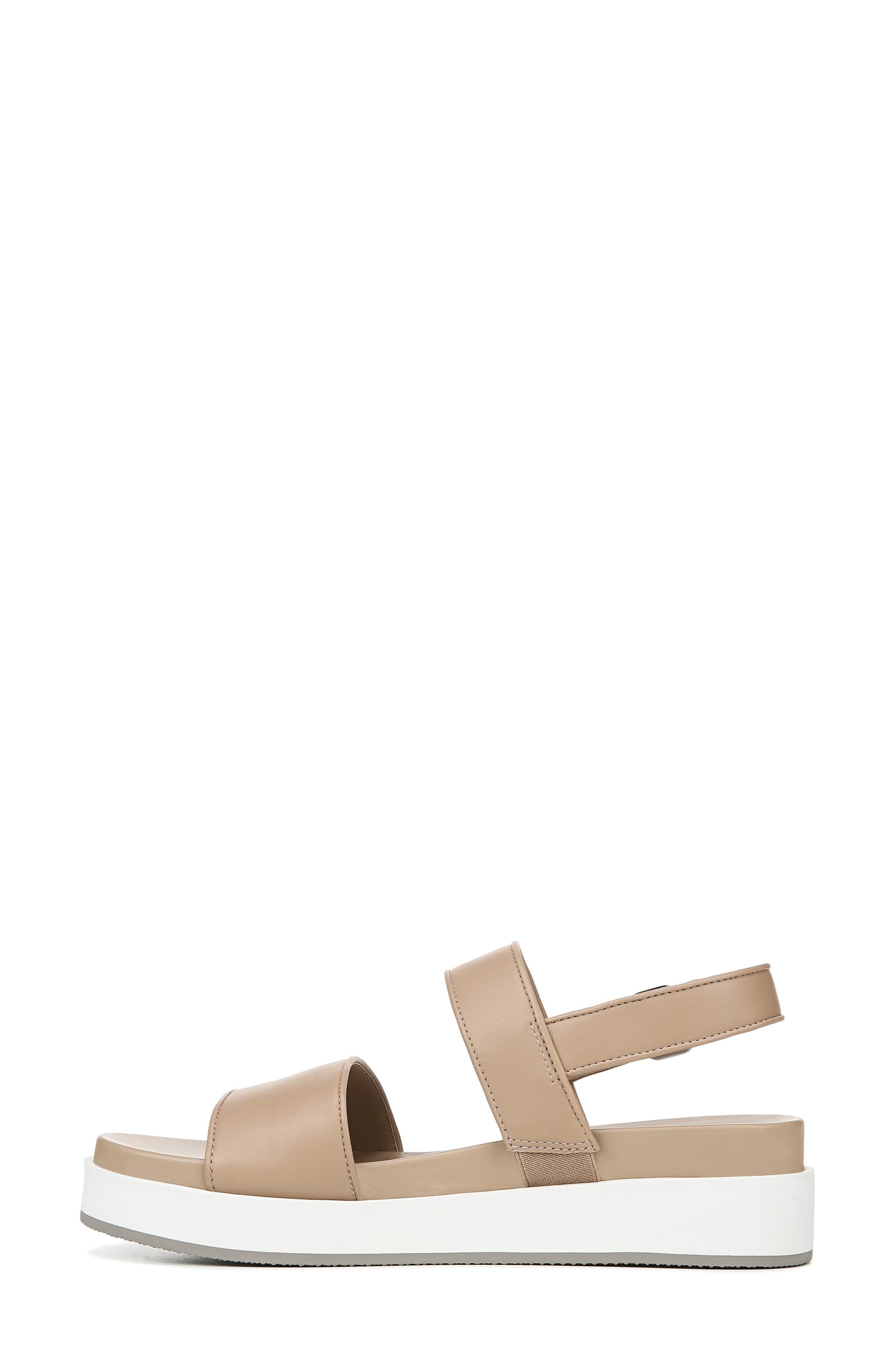 VIA SPIGA, Davi Platform Sandal, Alternate thumbnail 8, color, DESERT NAPPA