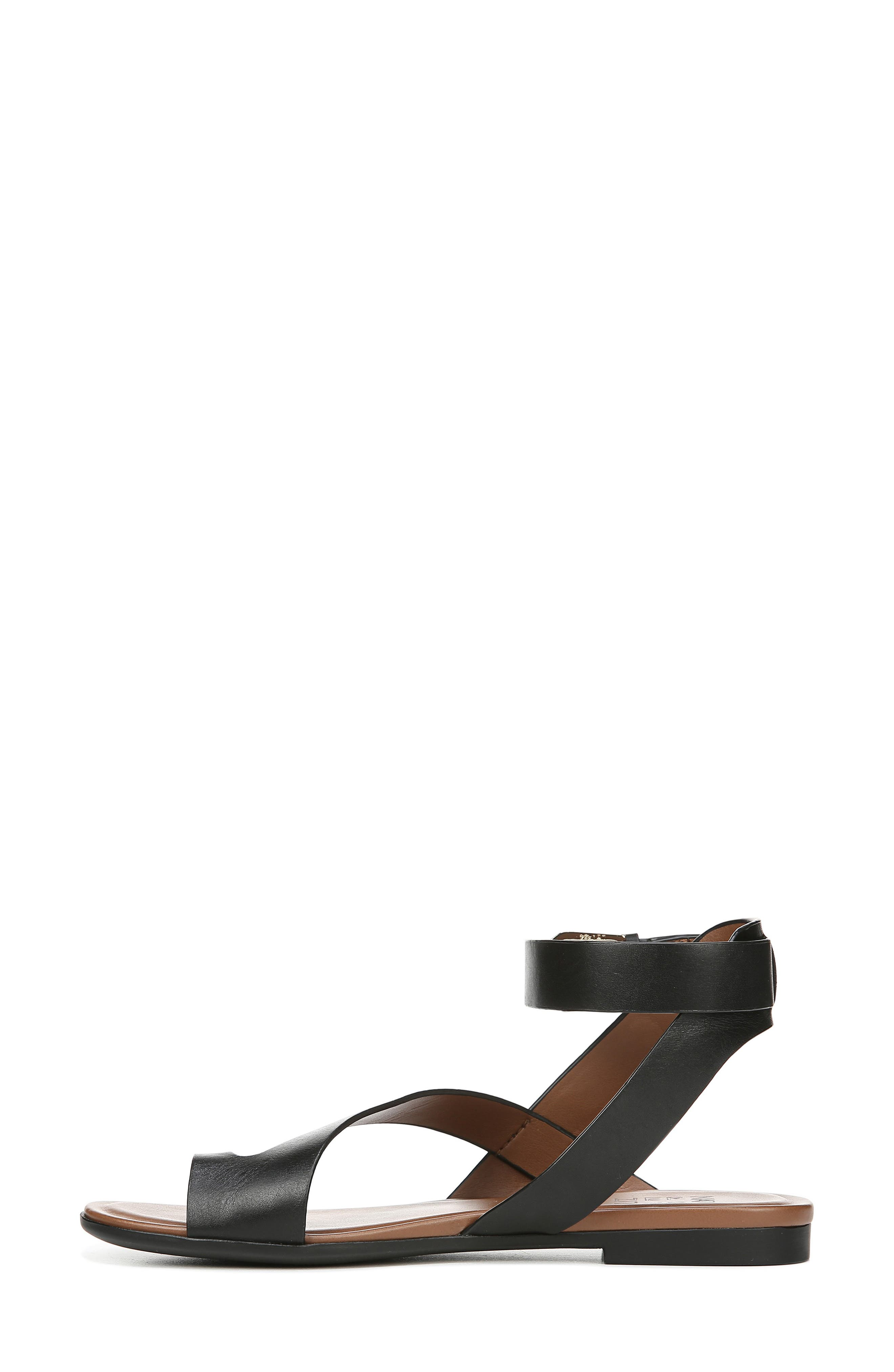 NATURALIZER, Tally Ankle Strap Sandal, Alternate thumbnail 9, color, BLACK LEATHER