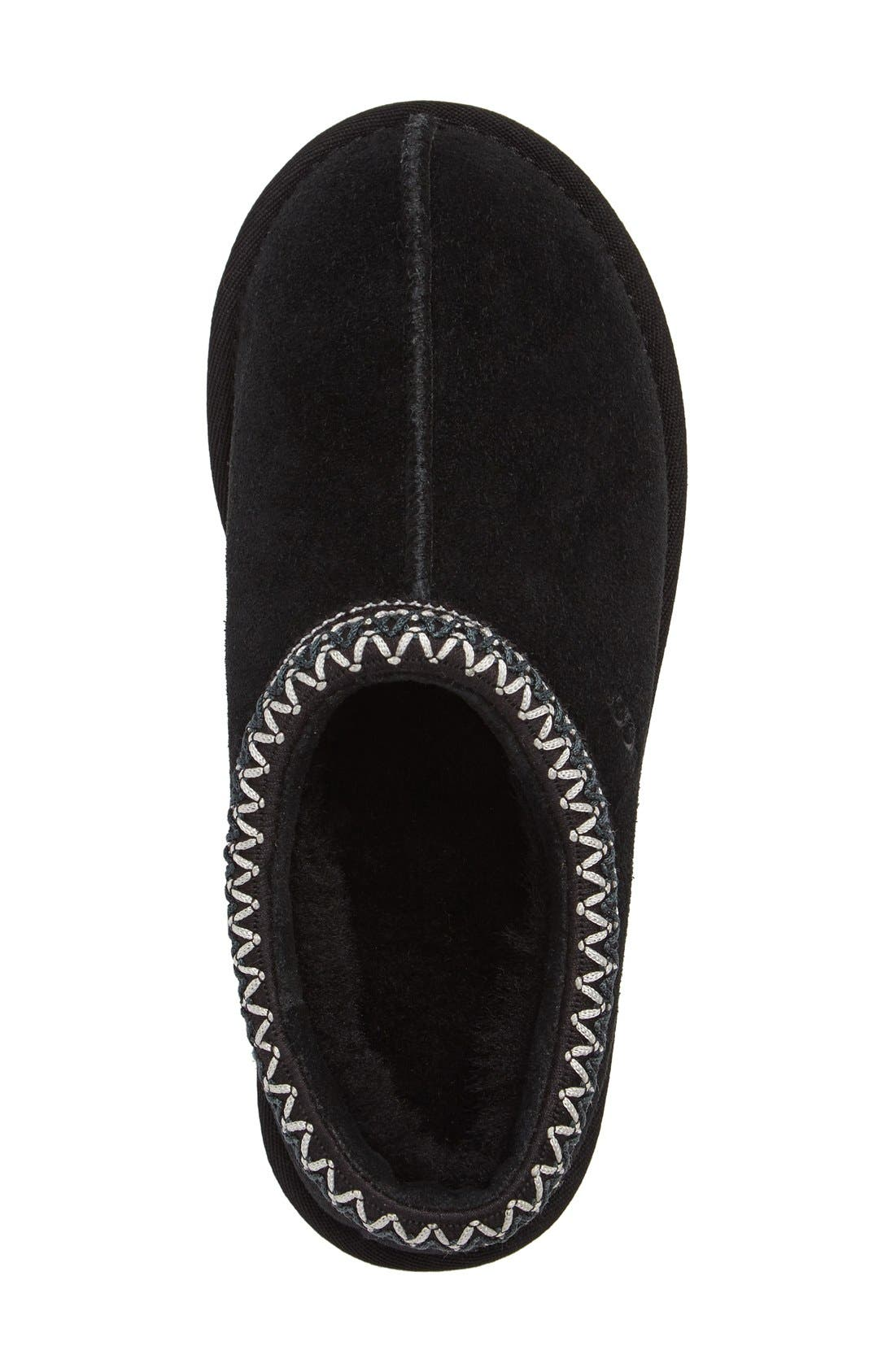 UGG<SUP>®</SUP>, 'Tasman' Slipper, Alternate thumbnail 5, color, BLACK