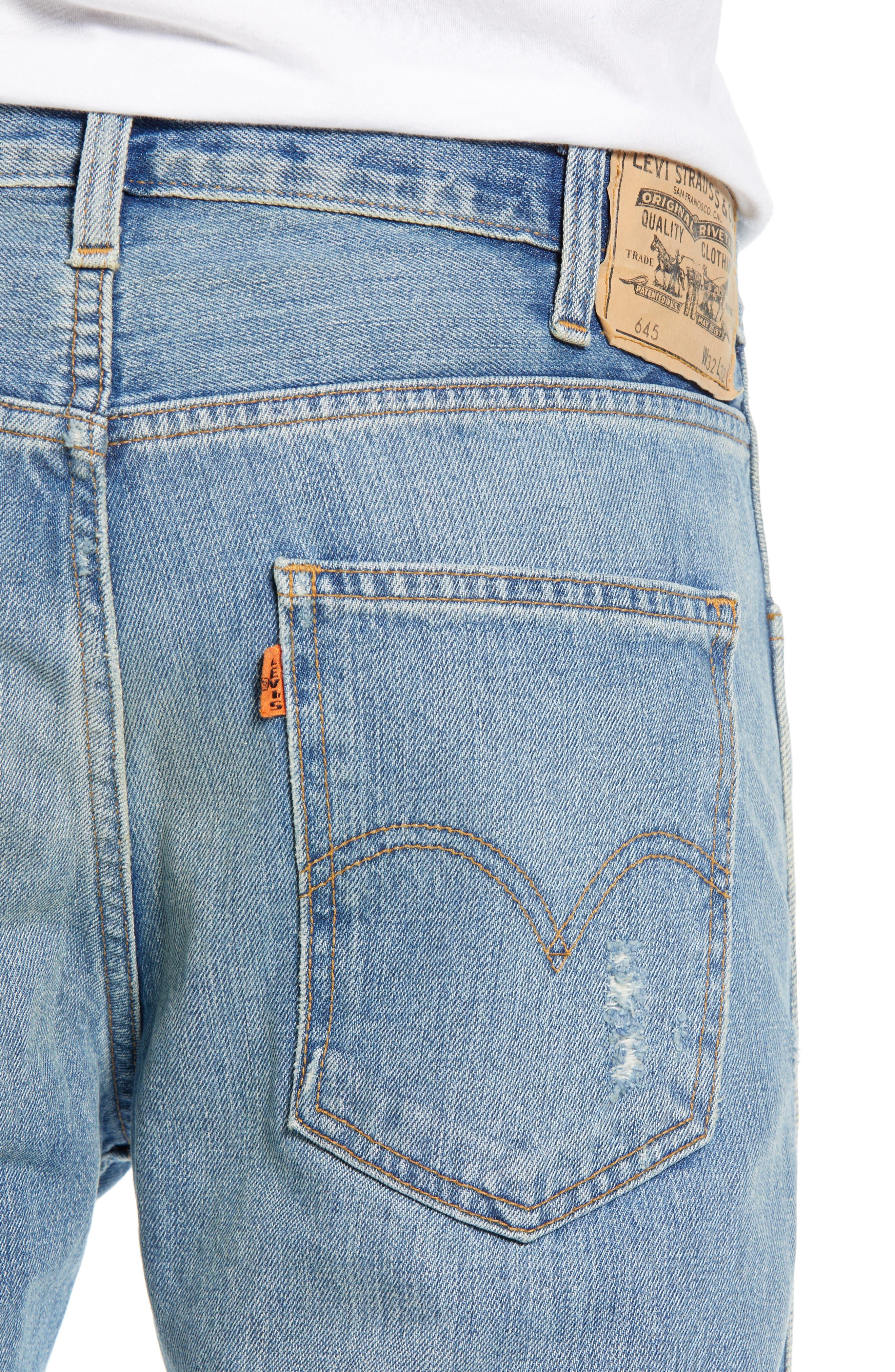 LEVI'S<SUP>®</SUP> VINTAGE CLOTHING, 1969 606<sup>™</sup> Slim Fit Jeans, Alternate thumbnail 4, color, 423