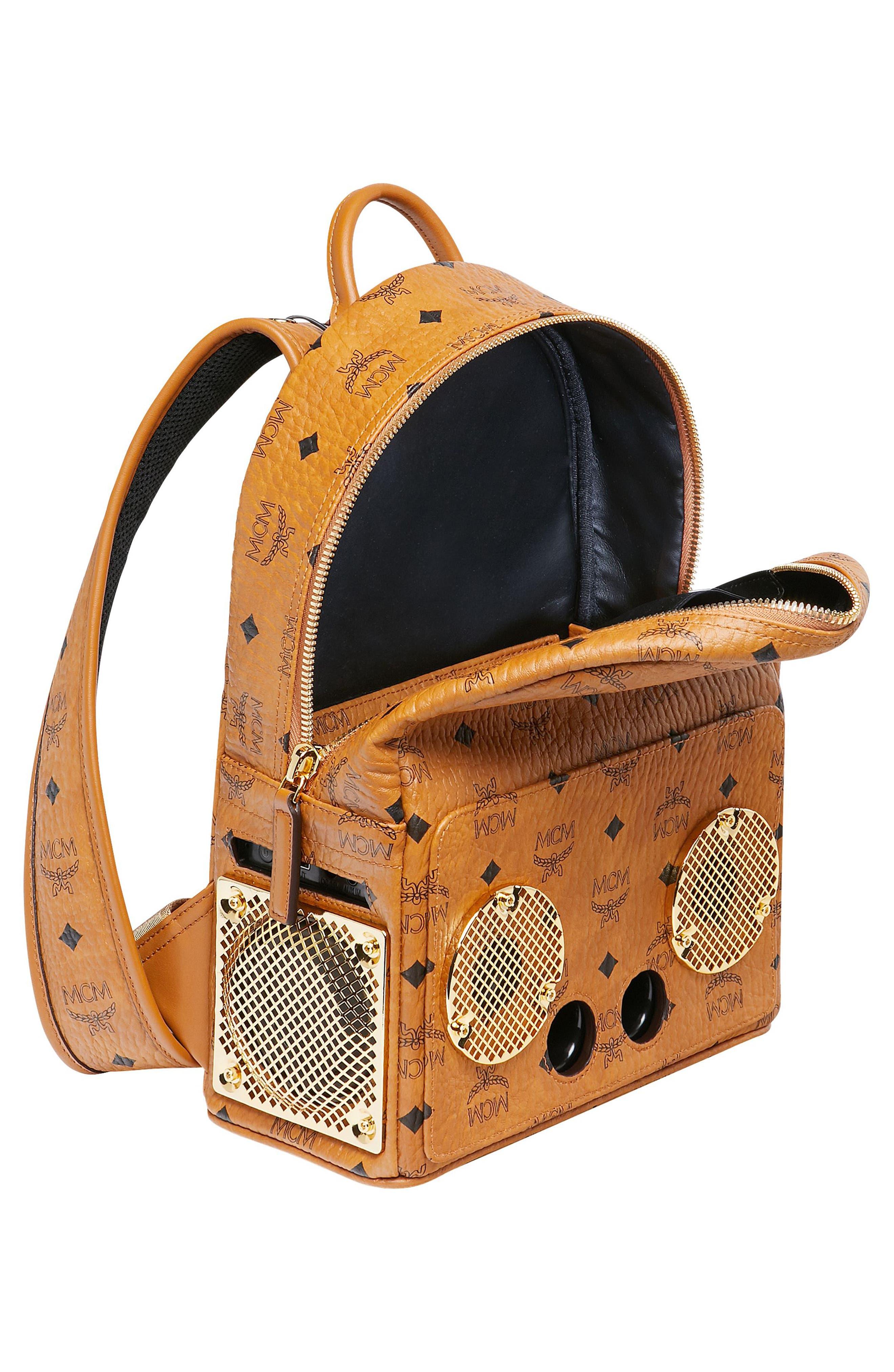 MCM, x Wizpak Visetos Sound System Backpack, Alternate thumbnail 4, color, 200