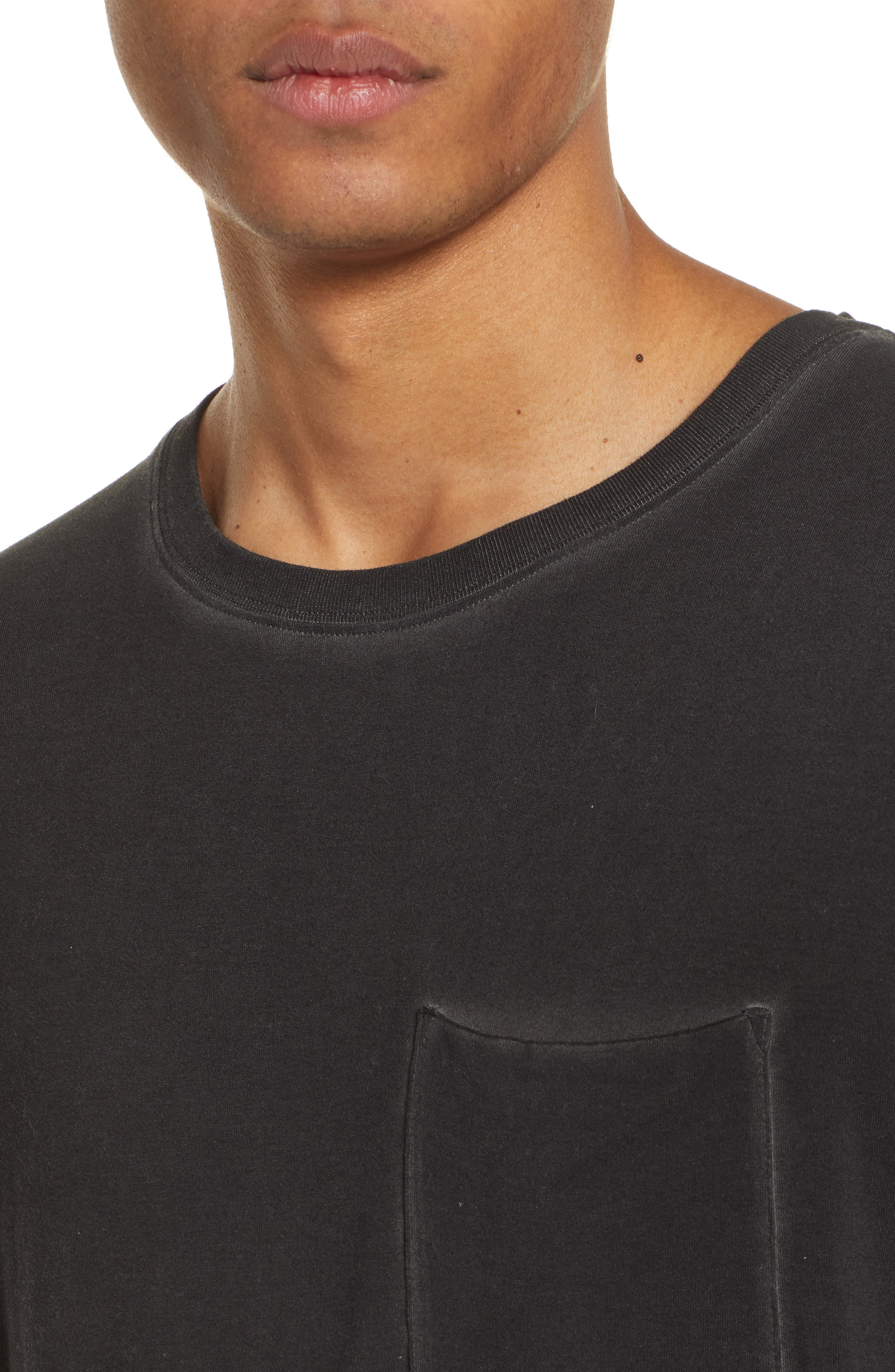 ATM ANTHONY THOMAS MELILLO, Sun Bleached Oversized T-Shirt, Alternate thumbnail 4, color, BLACK