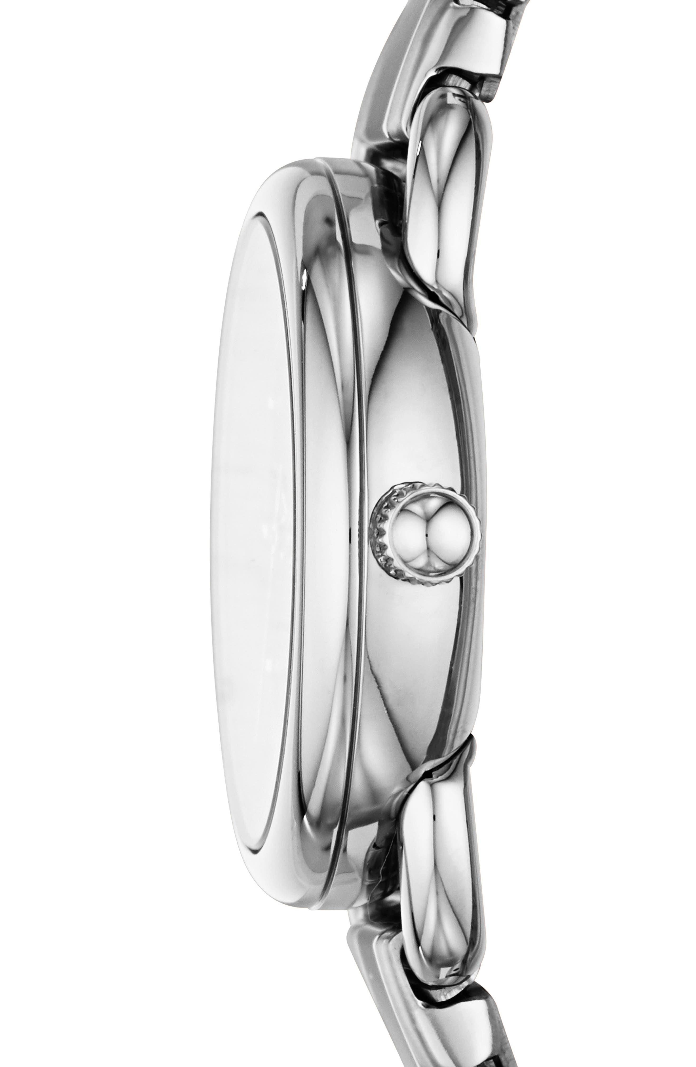 FOSSIL, Mini Tailor Bracelet Watch, 26mm, Alternate thumbnail 2, color, 040