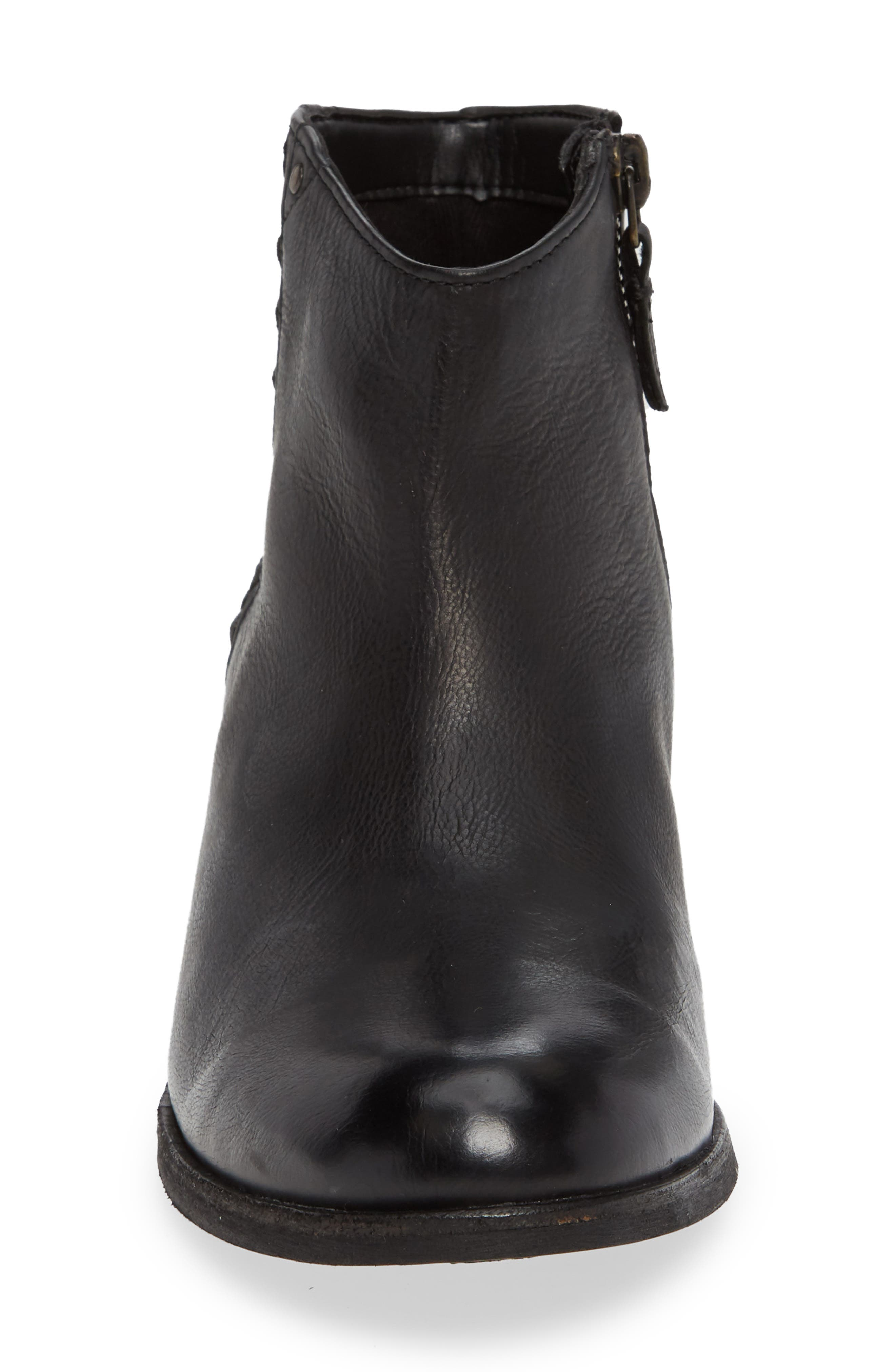 CLARKS<SUP>®</SUP>, Maypearl Fawn Bootie, Alternate thumbnail 4, color, BLACK LEATHER