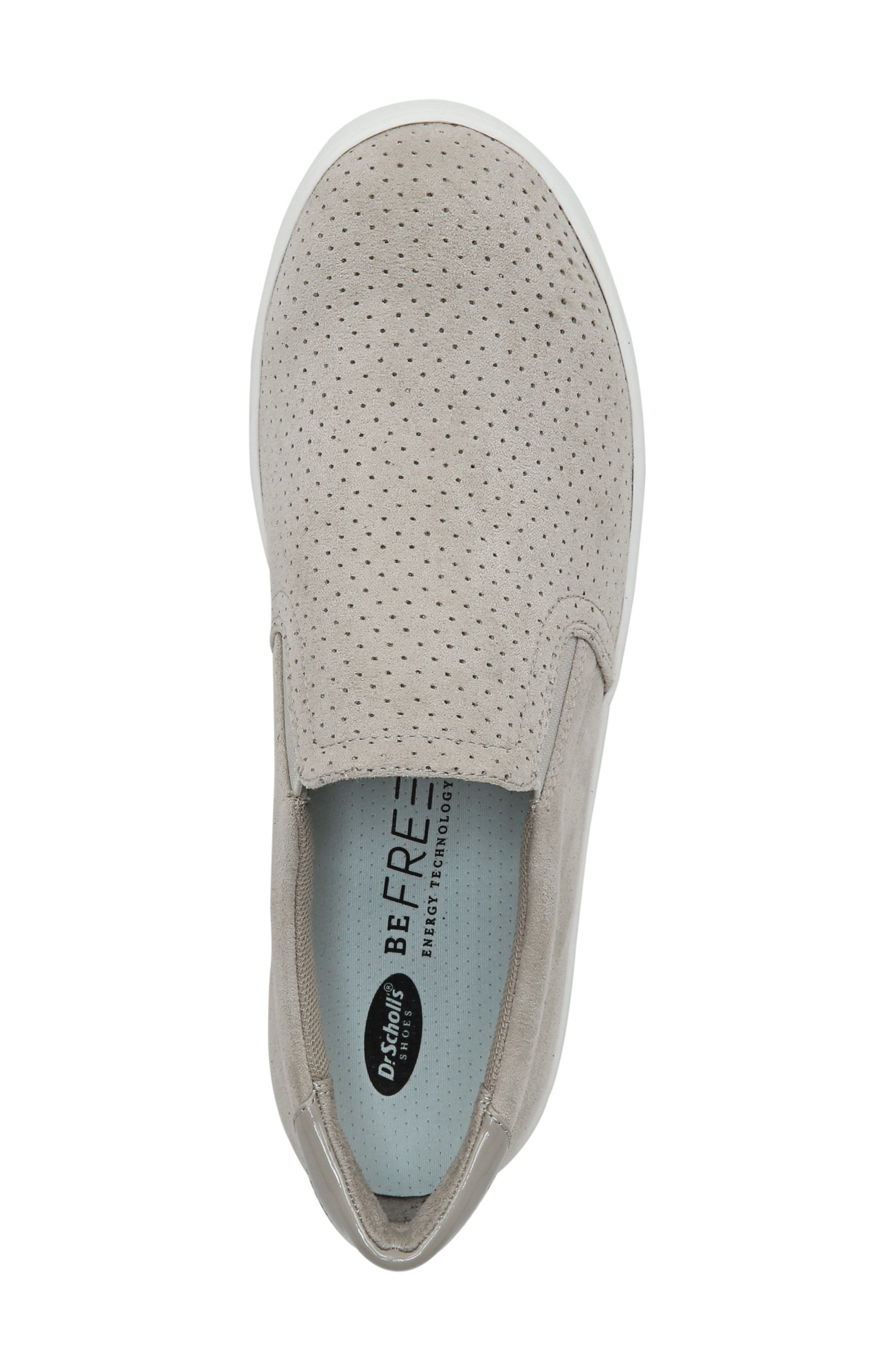 DR. SCHOLL'S, Madison Slip-On Sneaker, Alternate thumbnail 5, color, GREY PERFORATED FABRIC