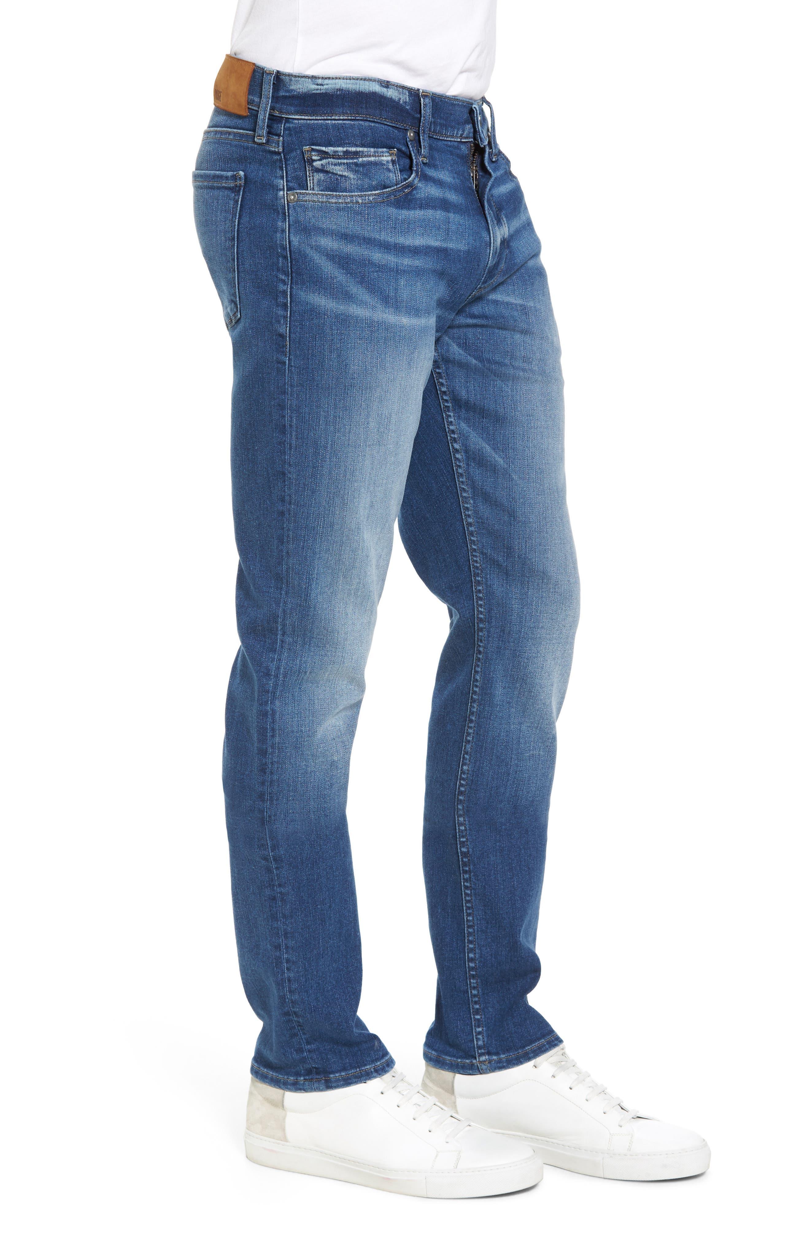 PAIGE, Transcend - Lennox Slim Fit Jeans, Alternate thumbnail 4, color, MULHOLLAND