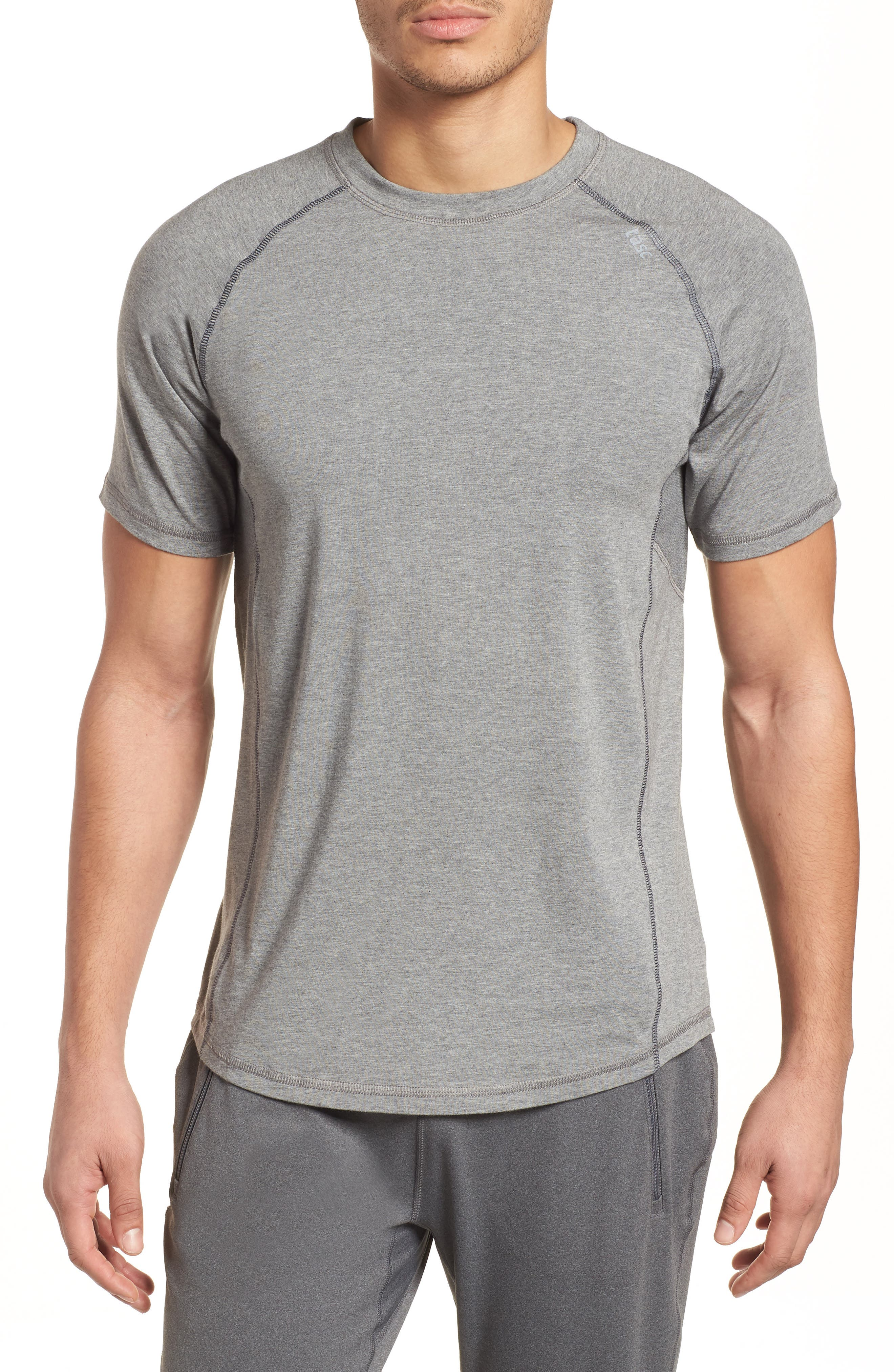 TASC PERFORMANCE, Charge II T-Shirt, Main thumbnail 1, color, HEATHER GREY