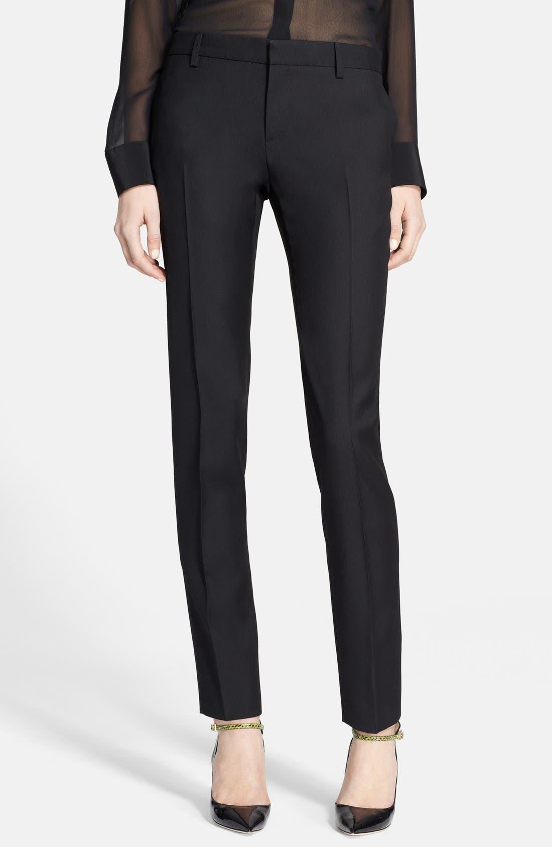 SAINT LAURENT Skinny Pants, Main, color, 001