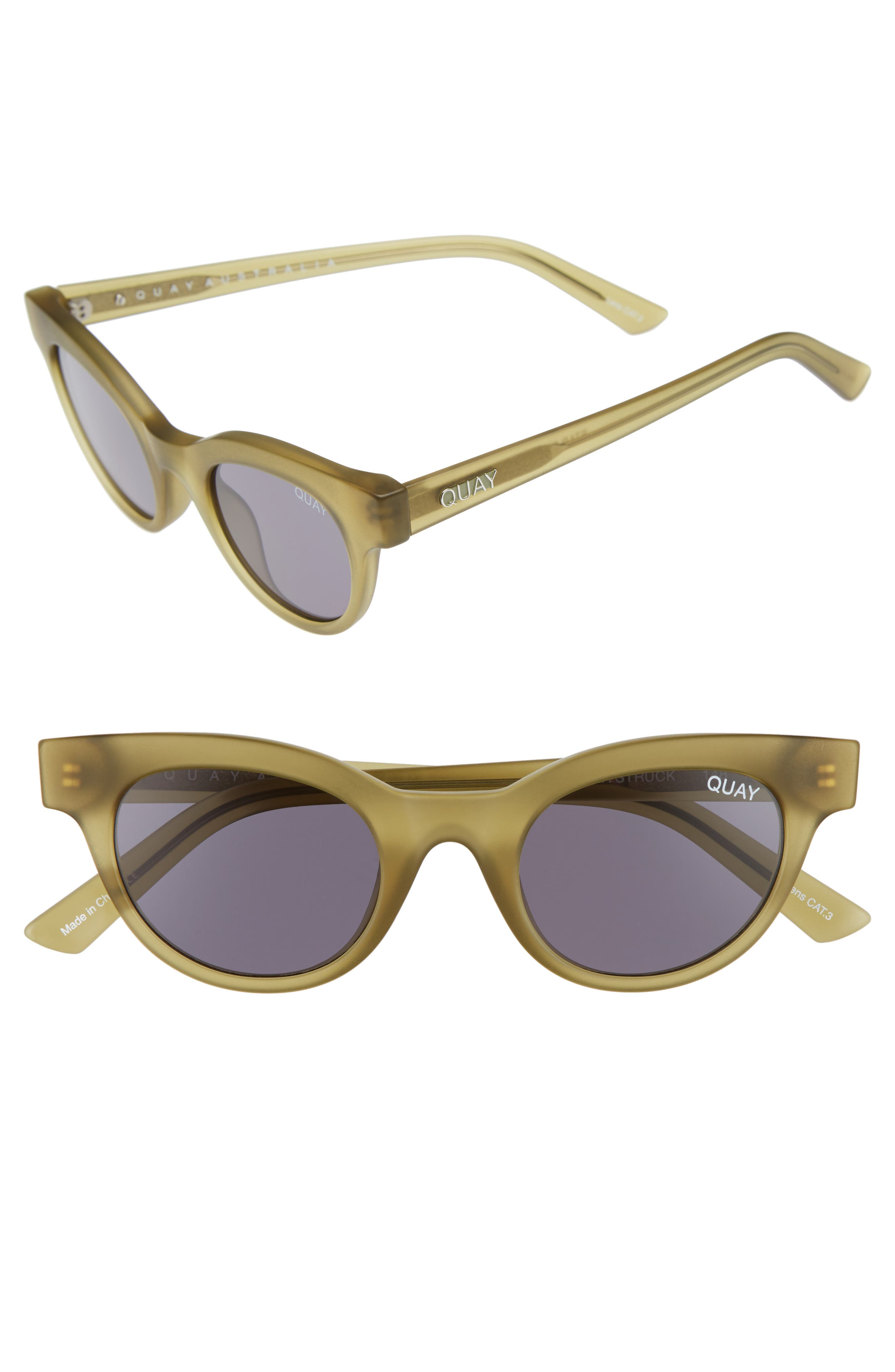 QUAY AUSTRALIA Starstruck 48mm Cat Eye Sunglasses, Main, color, 300