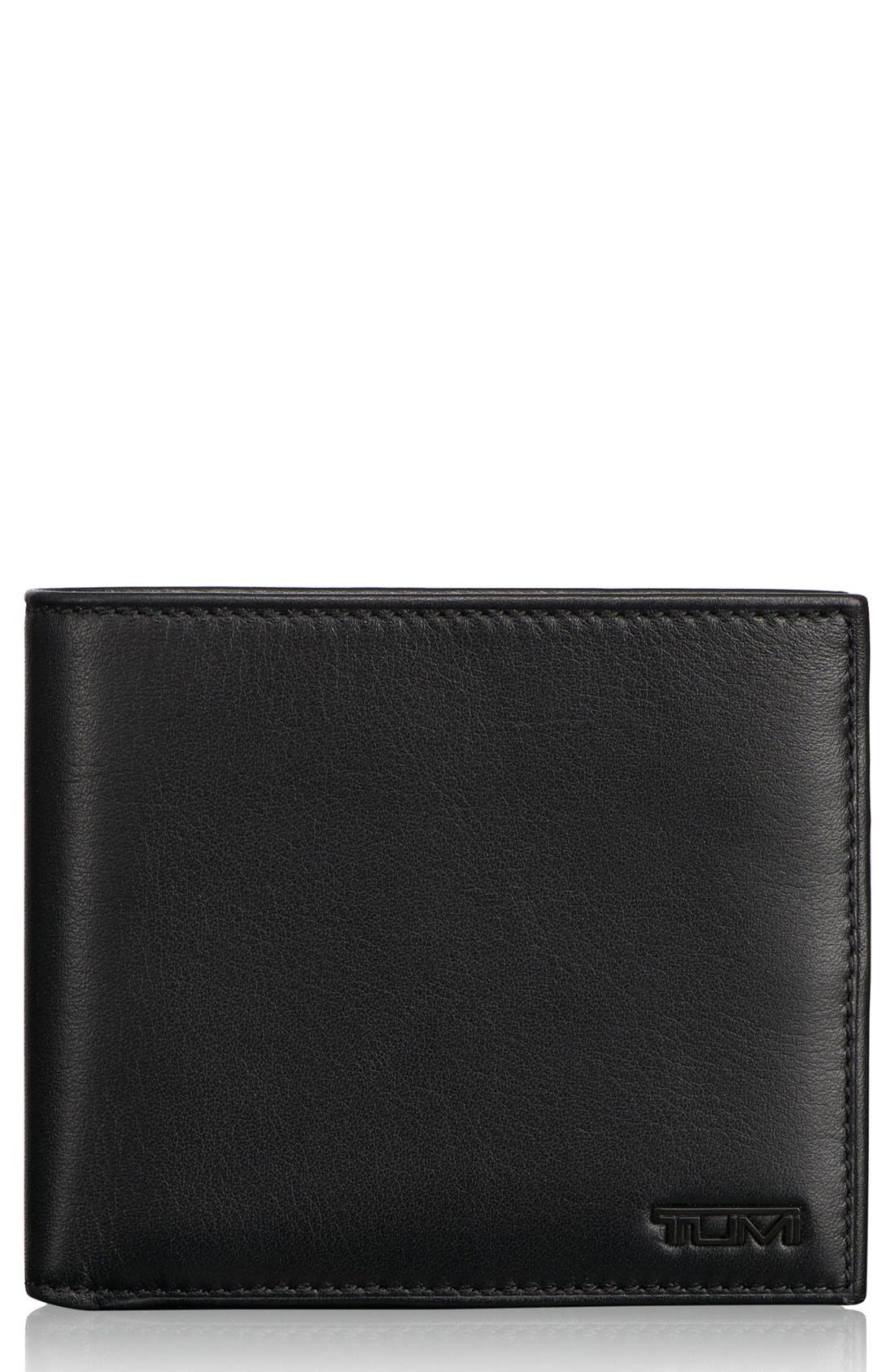TUMI, Delta Global - ID Lock<sup>™</sup> Shielded Center Flip ID Passcase, Main thumbnail 1, color, BLACK