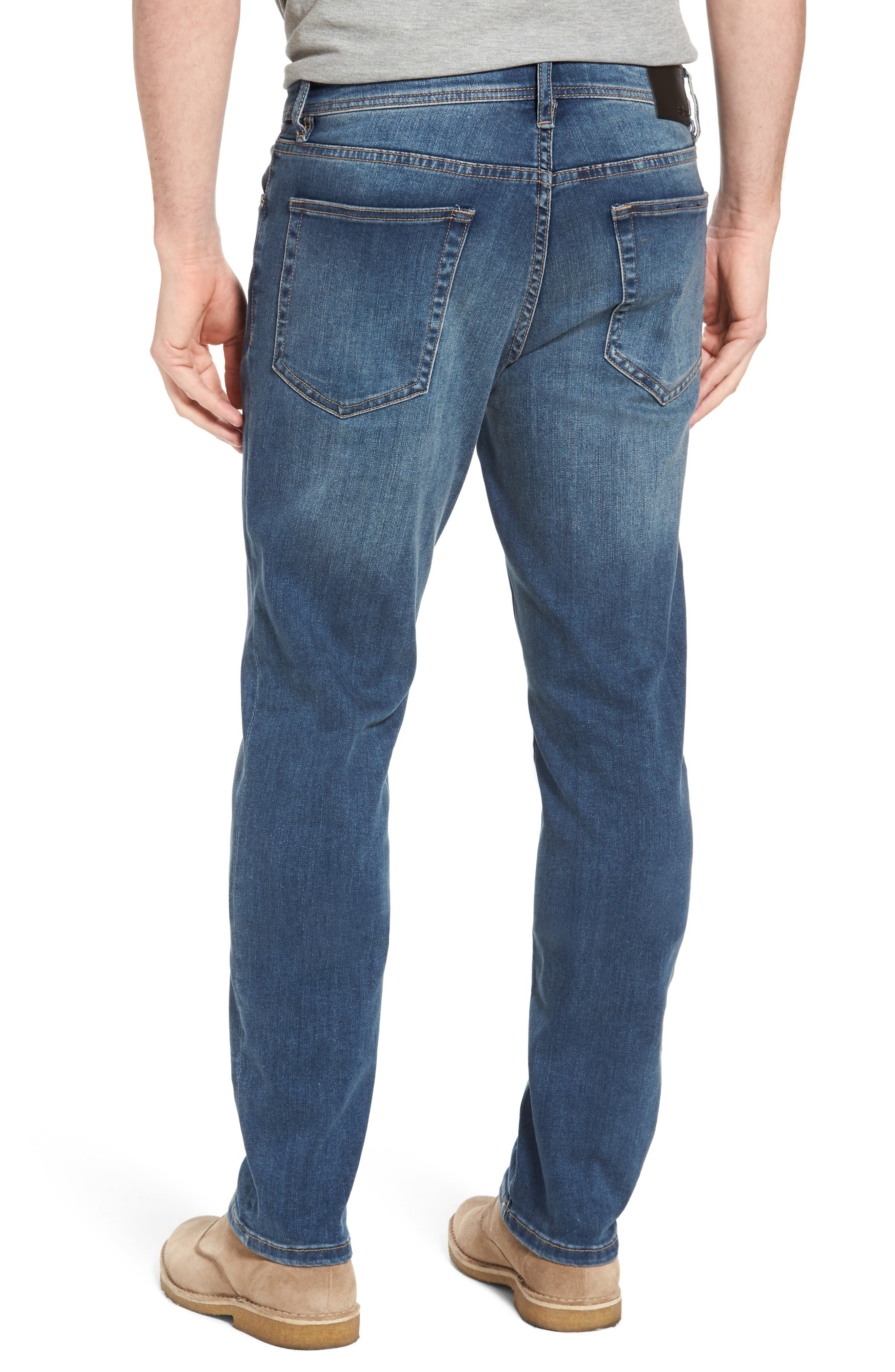 LIVERPOOL, Regent Relaxed Straight Leg Jeans, Alternate thumbnail 2, color, CHATSWORTH