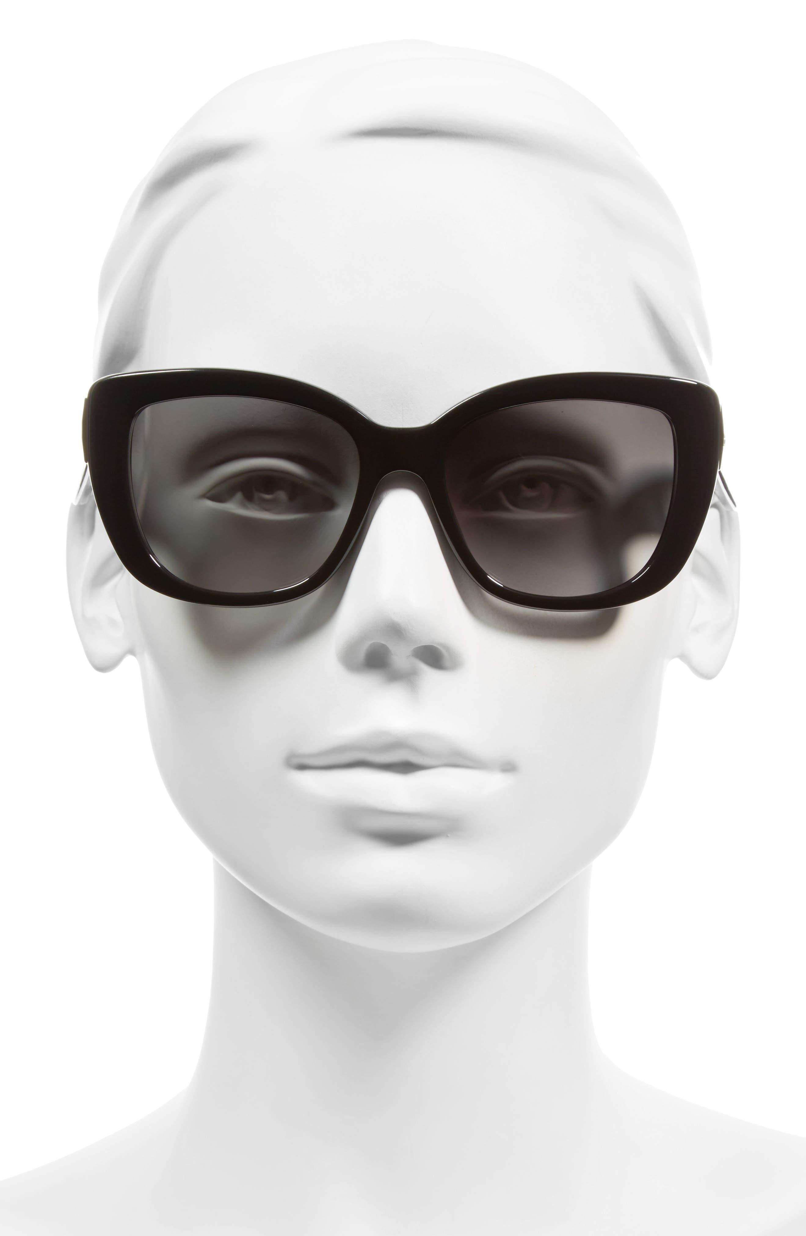 KATE SPADE NEW YORK, 'andris' 54mm sunglasses, Alternate thumbnail 3, color, 001