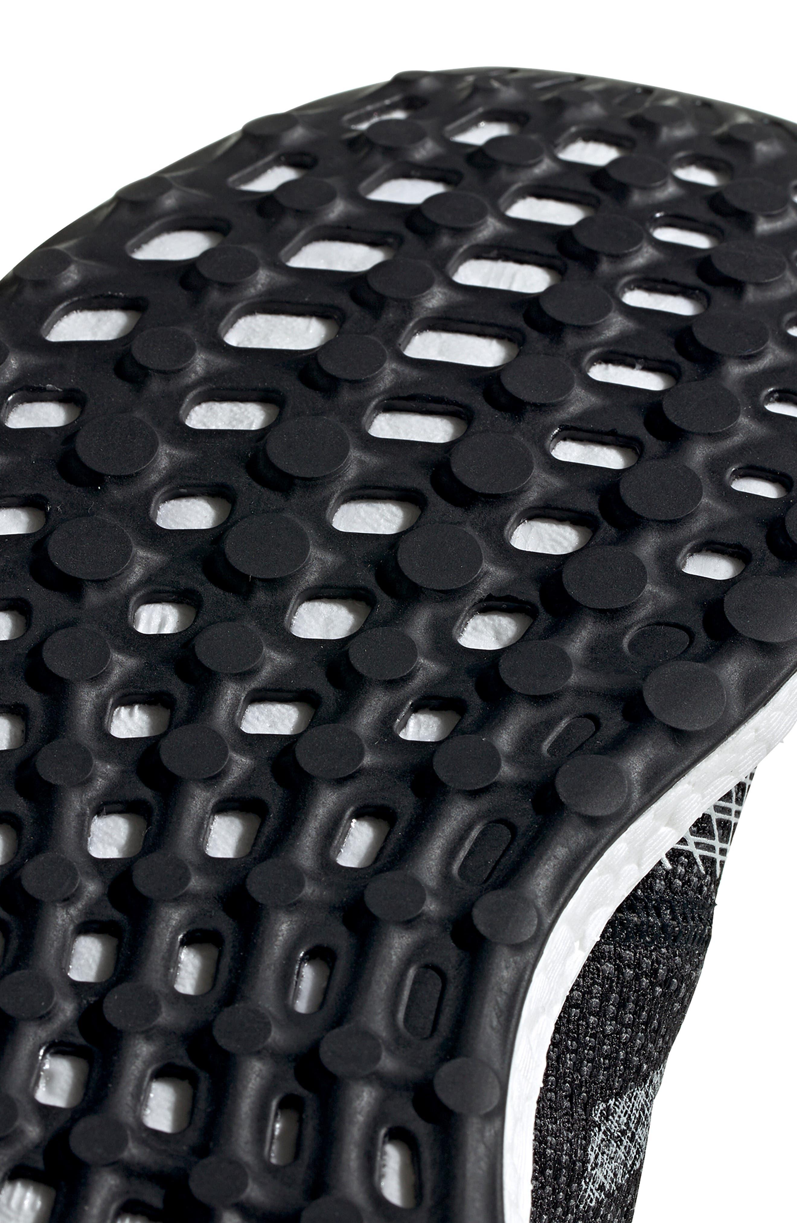 ADIDAS, PureBoost Go Running Shoe, Alternate thumbnail 10, color, CORE BLACK/ GREY