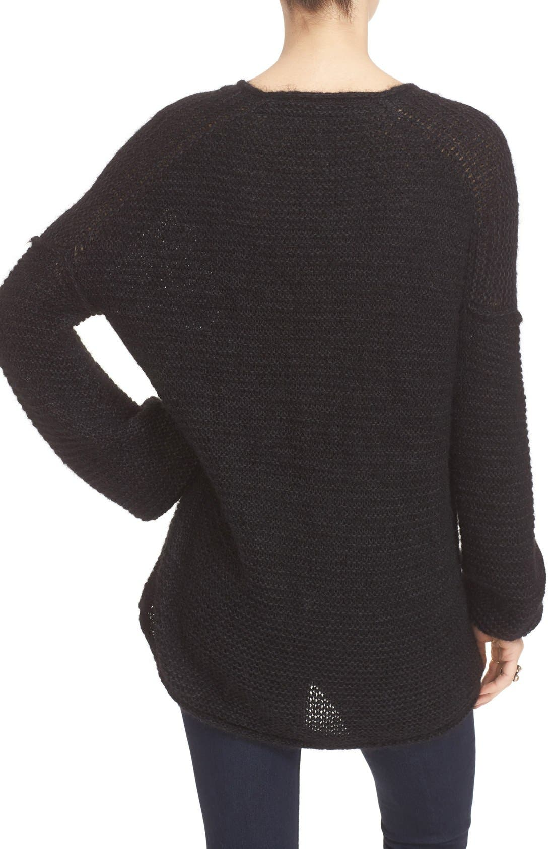 FREE PEOPLE, All Mine Sweater, Alternate thumbnail 2, color, 001