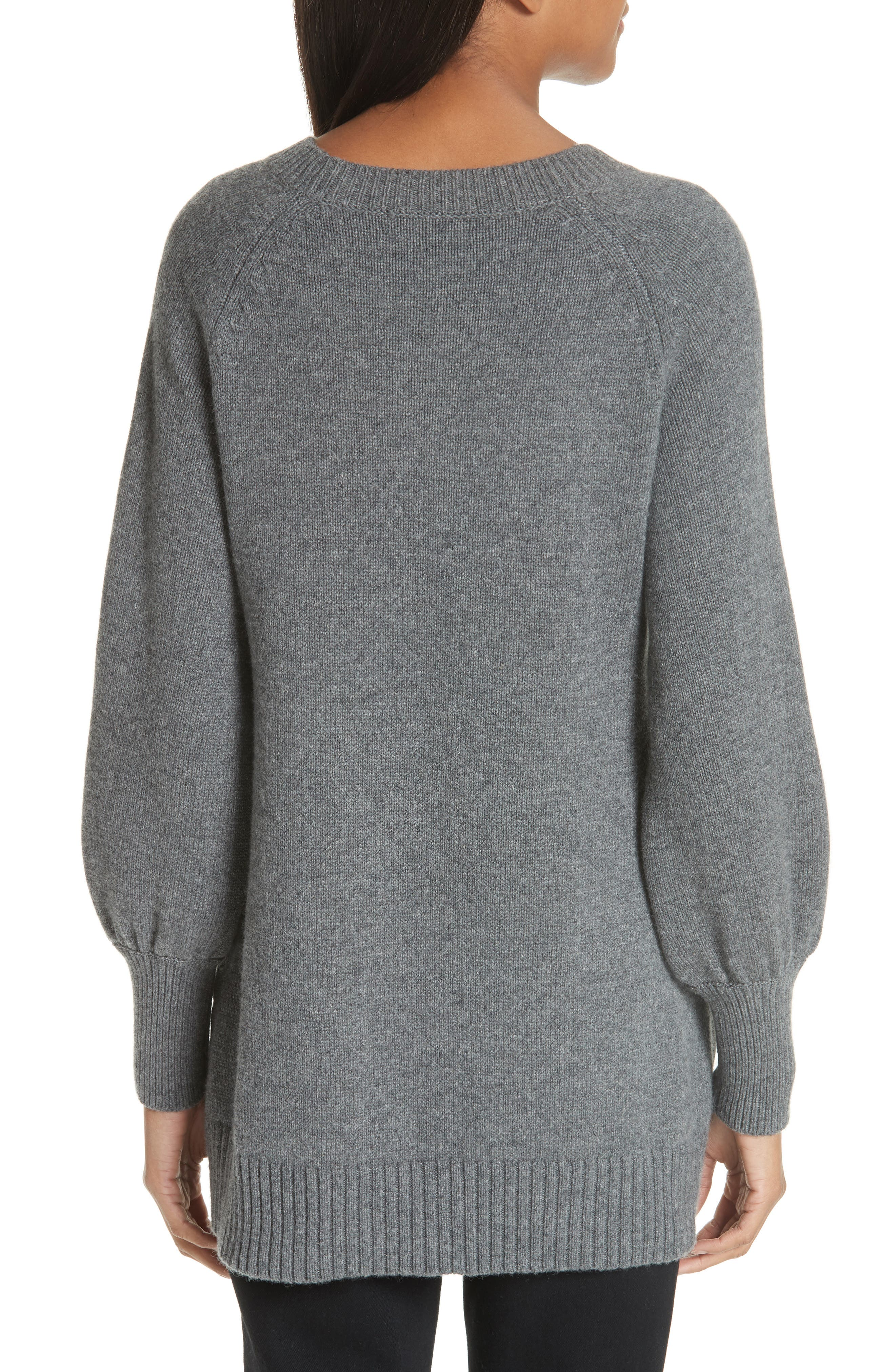 CO, Wool & Cashmere Tunic Sweater, Alternate thumbnail 2, color, GREY