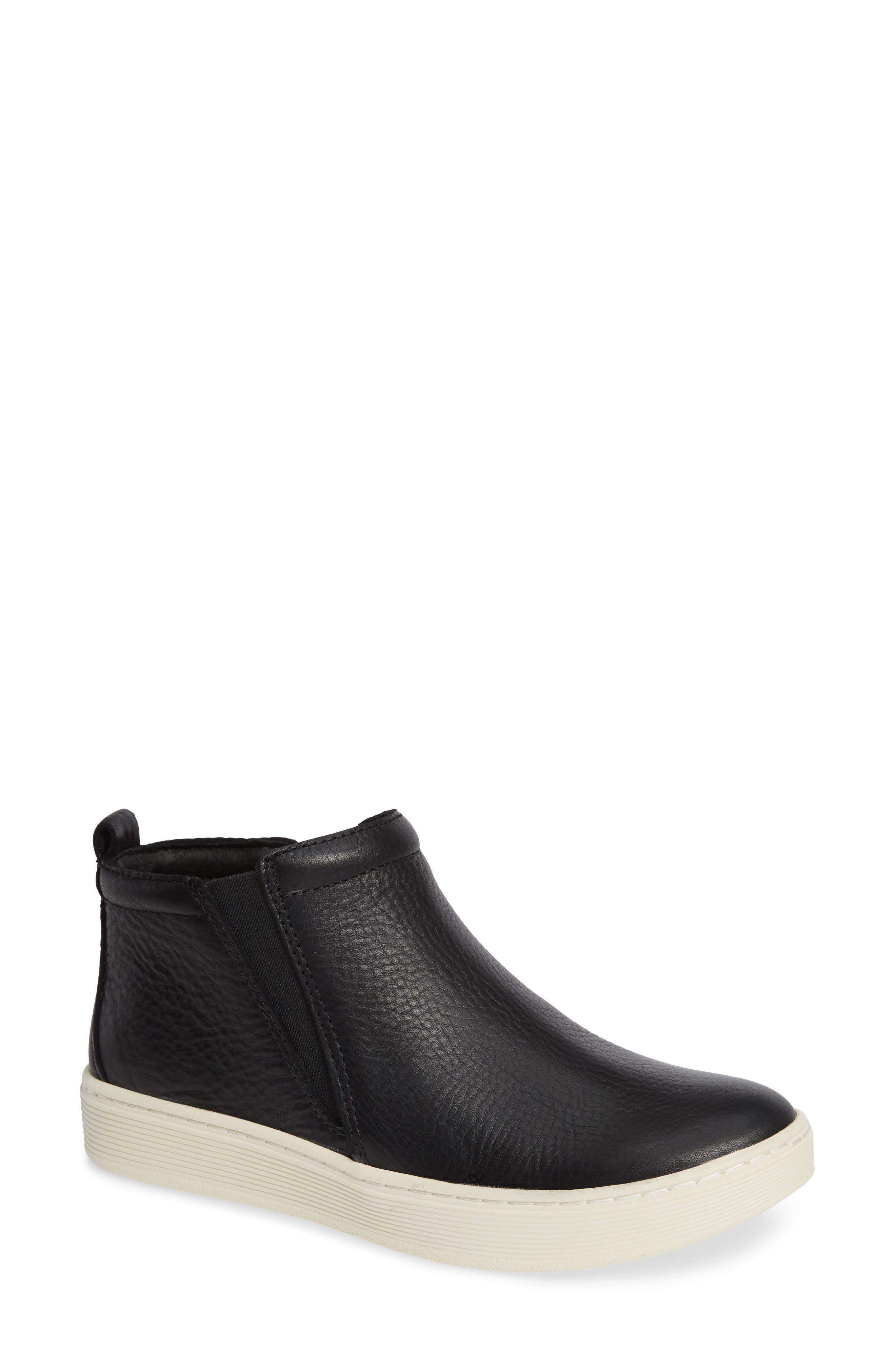 SÖFFT, Britton II Waterproof Sneaker Bootie, Main thumbnail 1, color, BLACK LEATHER