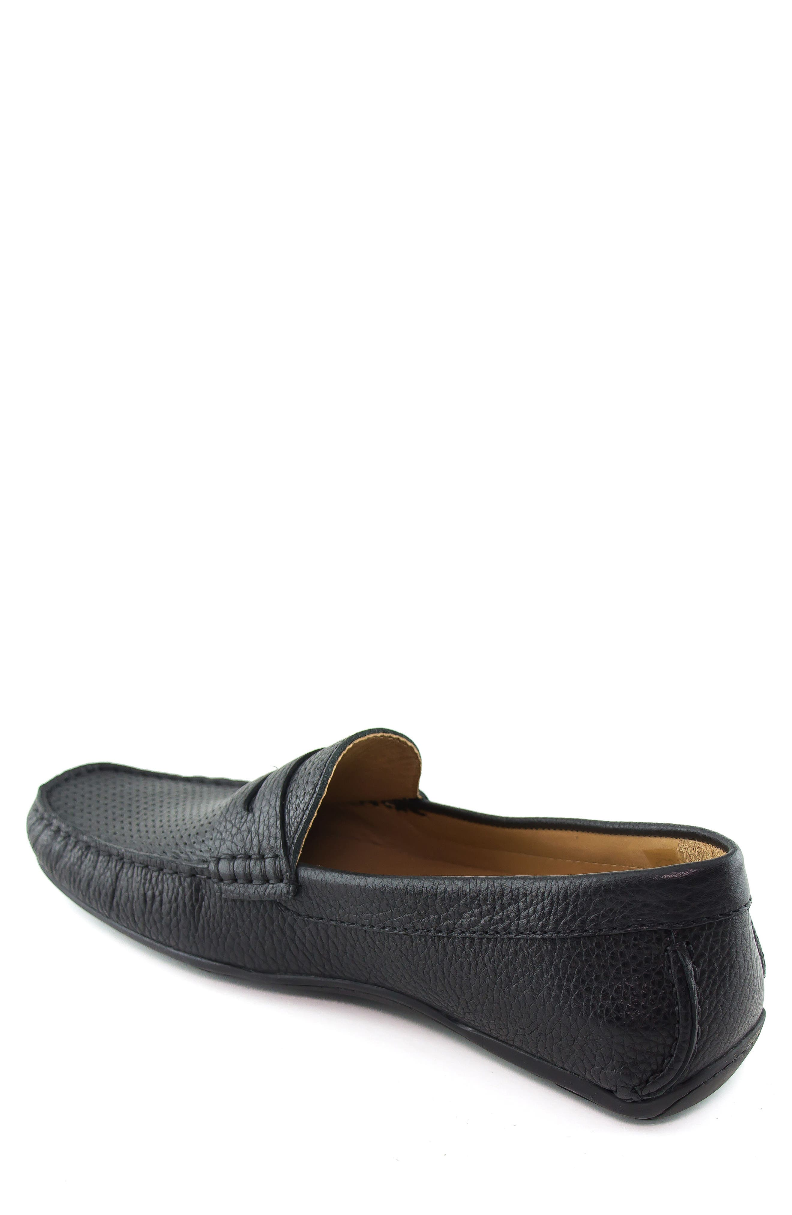 MARC JOSEPH NEW YORK, Union Street Driving Shoe, Alternate thumbnail 2, color, BLACK