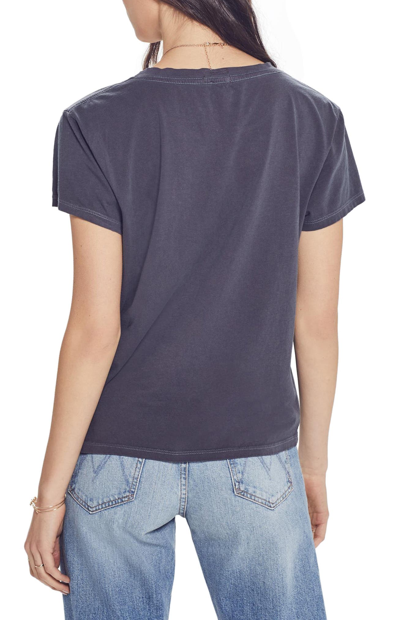 MOTHER, The Boxy Goodie Goodie Supima<sup>®</sup> Cotton Tee, Alternate thumbnail 2, color, 006