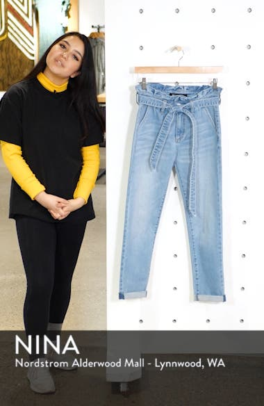 Paperbag Waist Skinny Jeans, sales video thumbnail