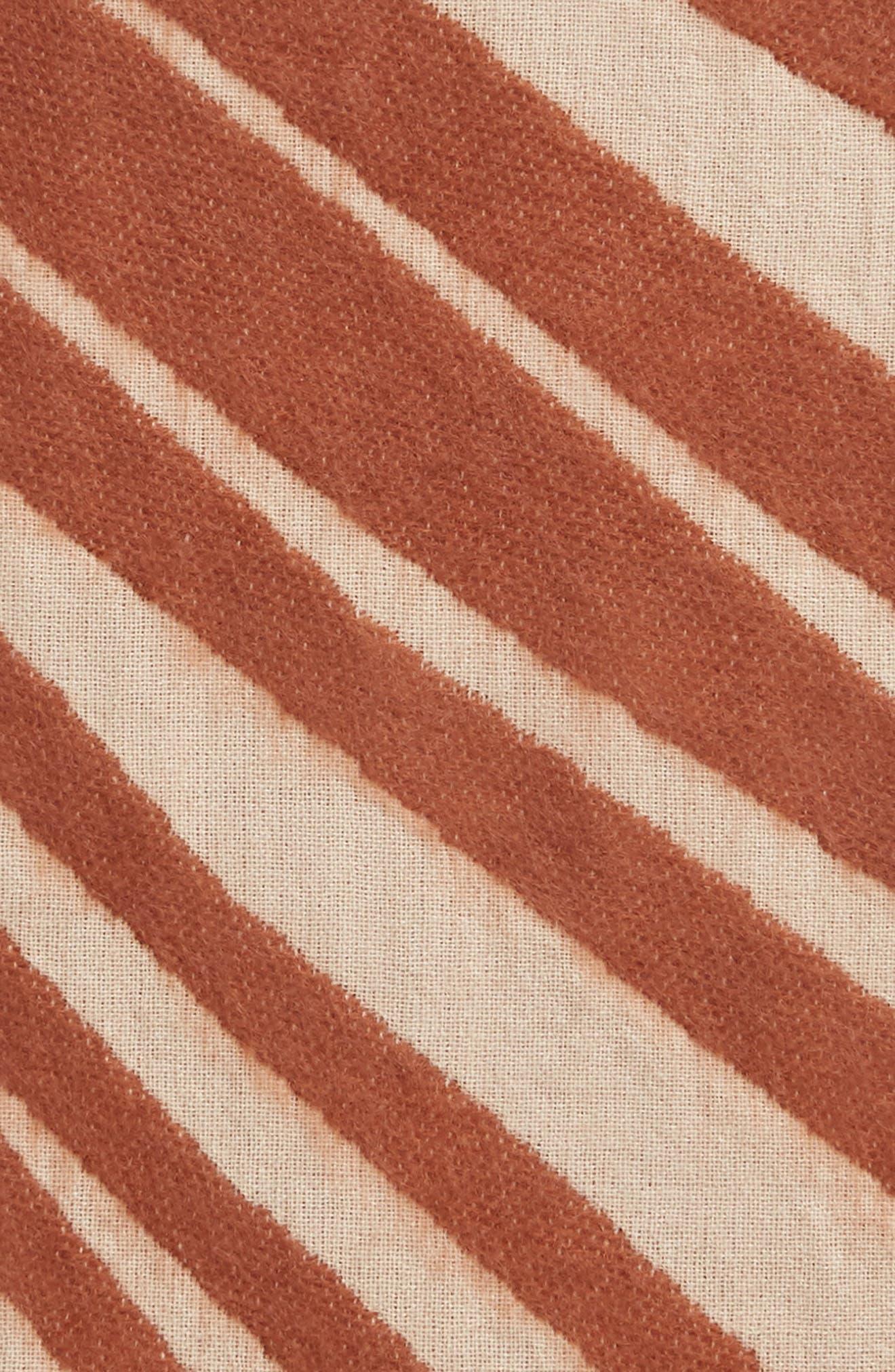 TREASURE & BOND, Palm Leaf Jacquard Throw Blanket, Alternate thumbnail 2, color, BEIGE DUNE MULTI