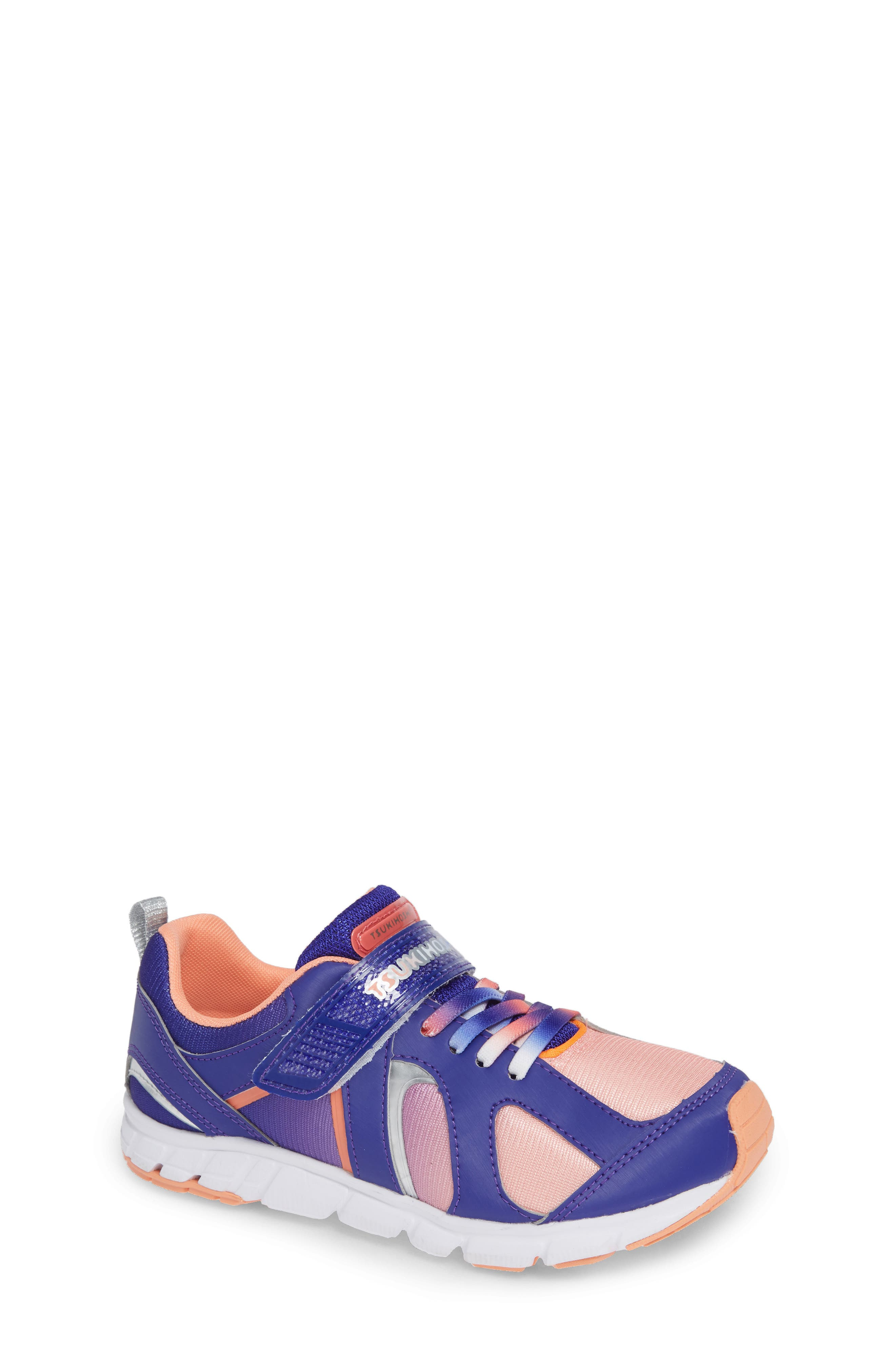 TSUKIHOSHI Rainbow Washable Sneaker, Main, color, VIOLET/ PEACH