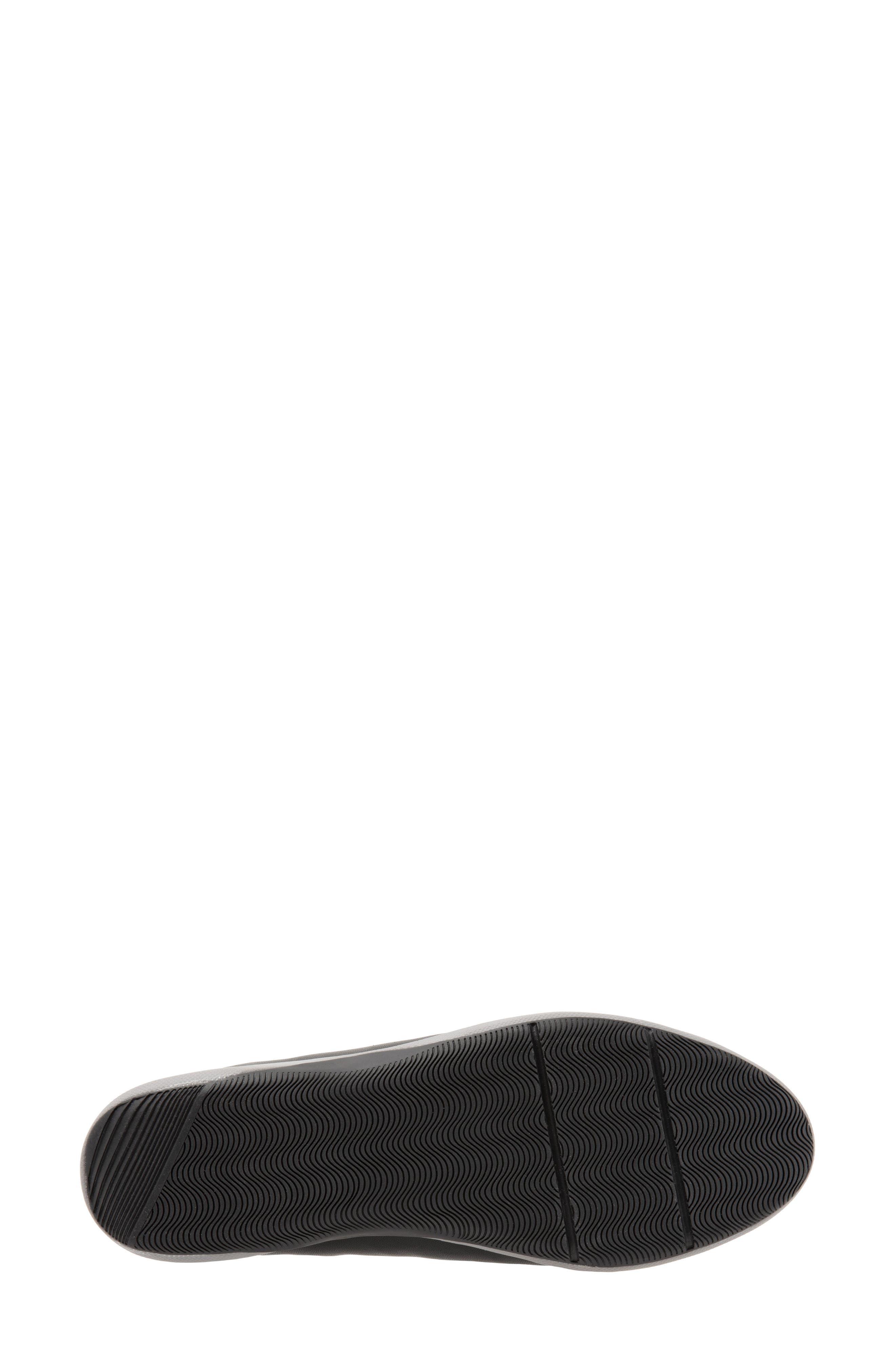 SOFTWALK<SUP>®</SUP>, SAVA Haven Sneaker, Alternate thumbnail 6, color, BLACK/ GREY LEATHER