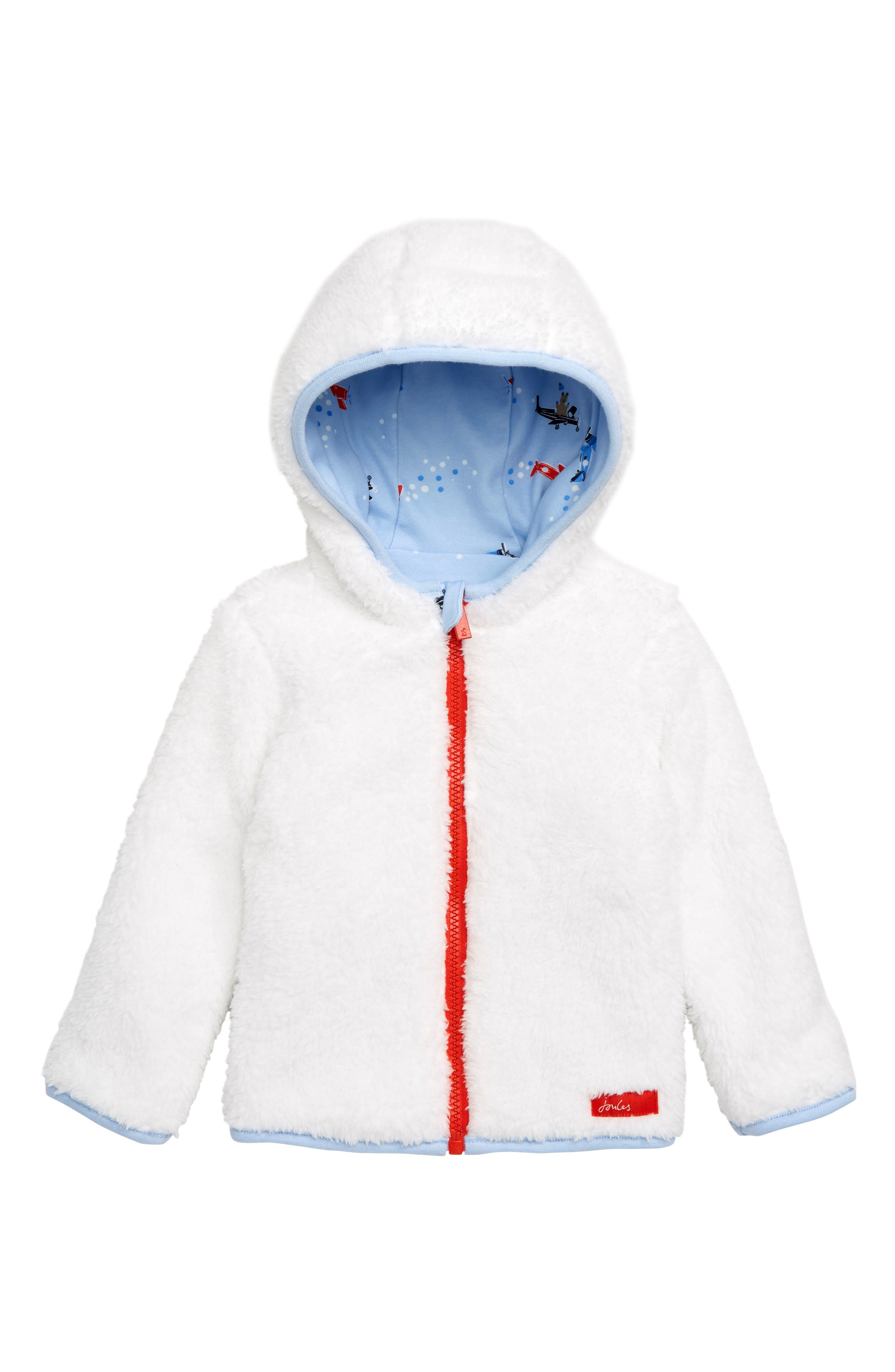 JOULES, James Reversible Fleece Jacket, Alternate thumbnail 2, color, BLPLNEBEAR