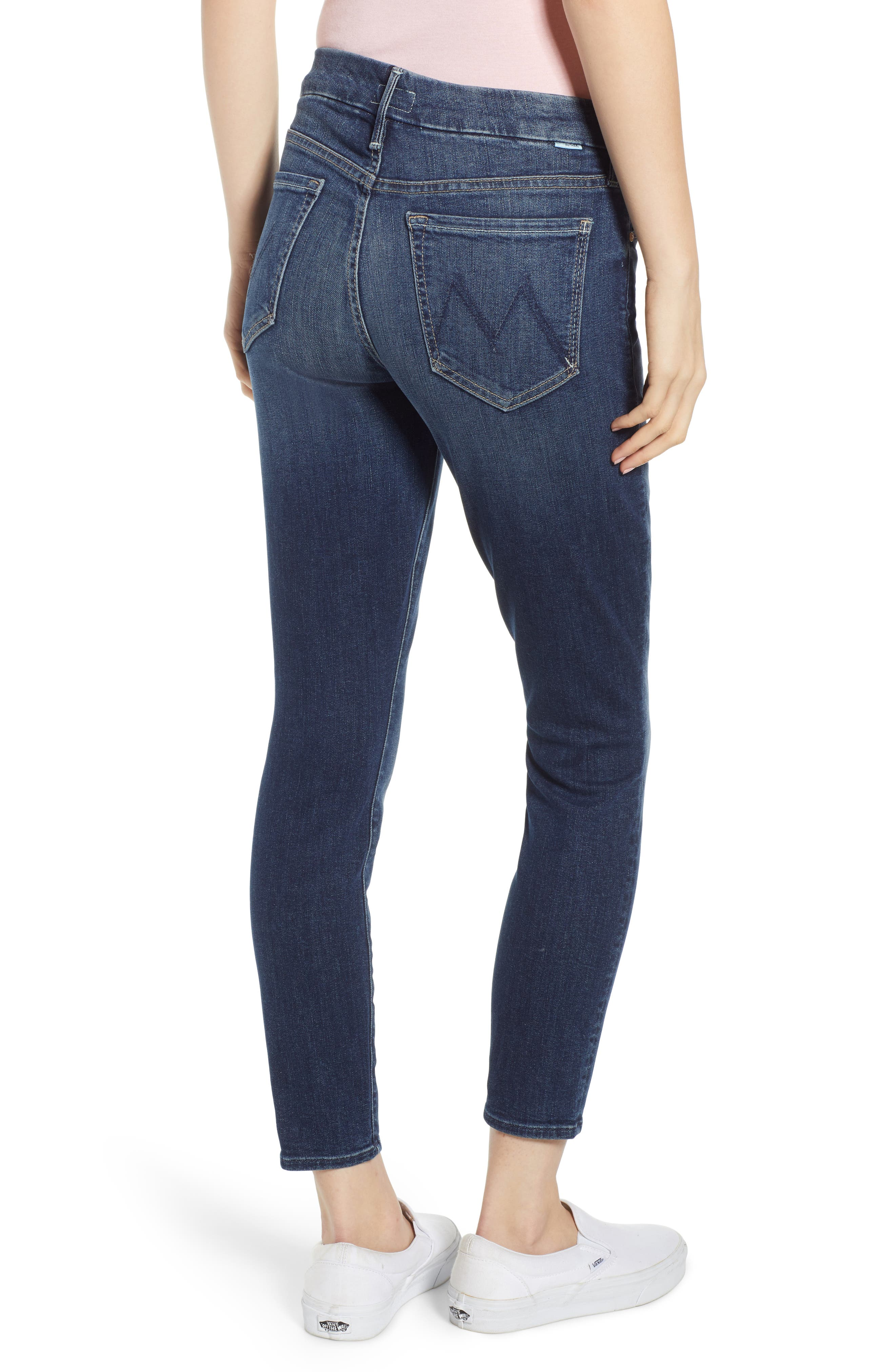 MOTHER, 'The Looker' Crop Skinny Jeans, Alternate thumbnail 2, color, ON THE EDGE
