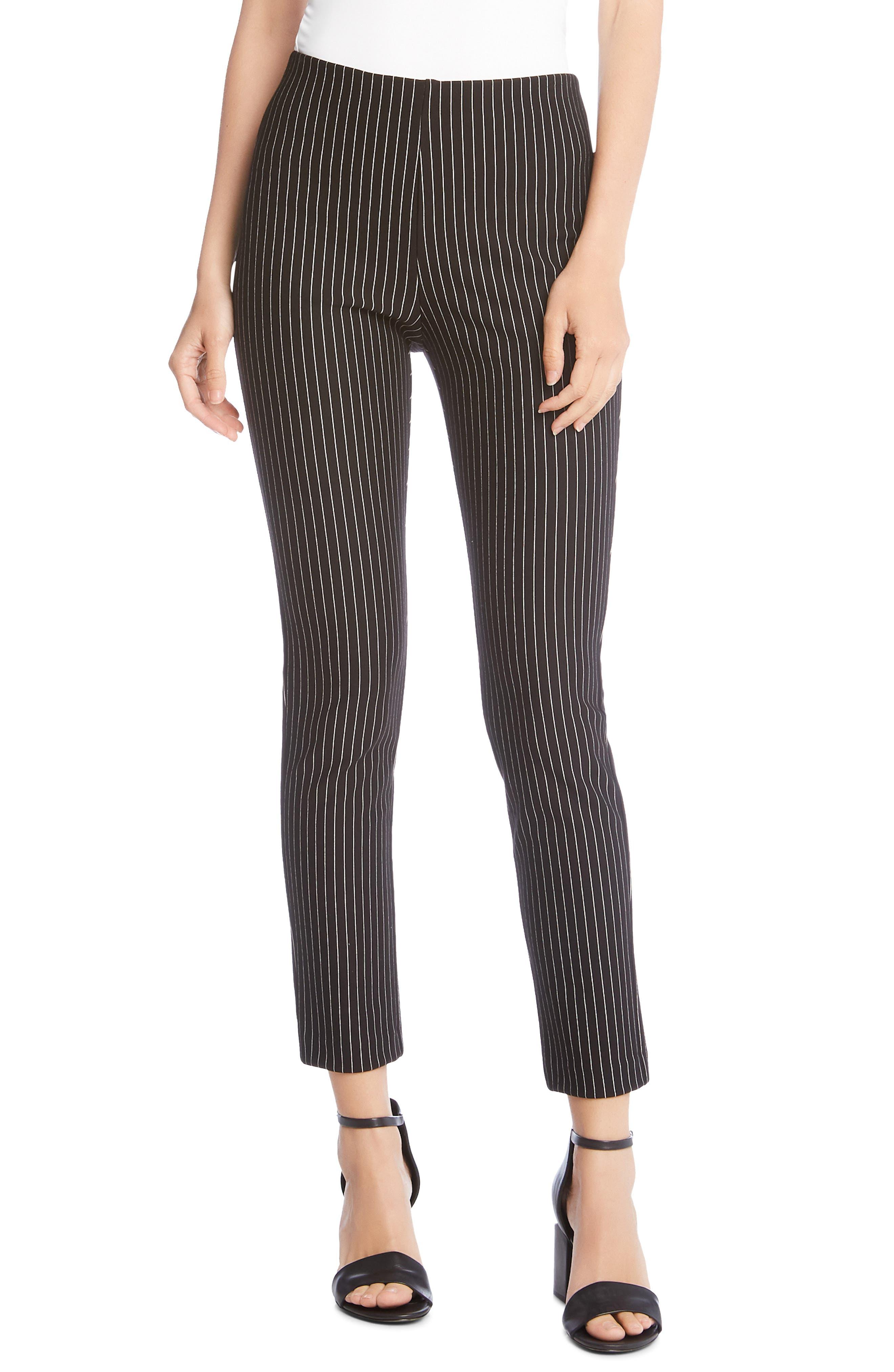 KAREN KANE Piper Stripe Ankle Skinny Pants, Main, color, 011