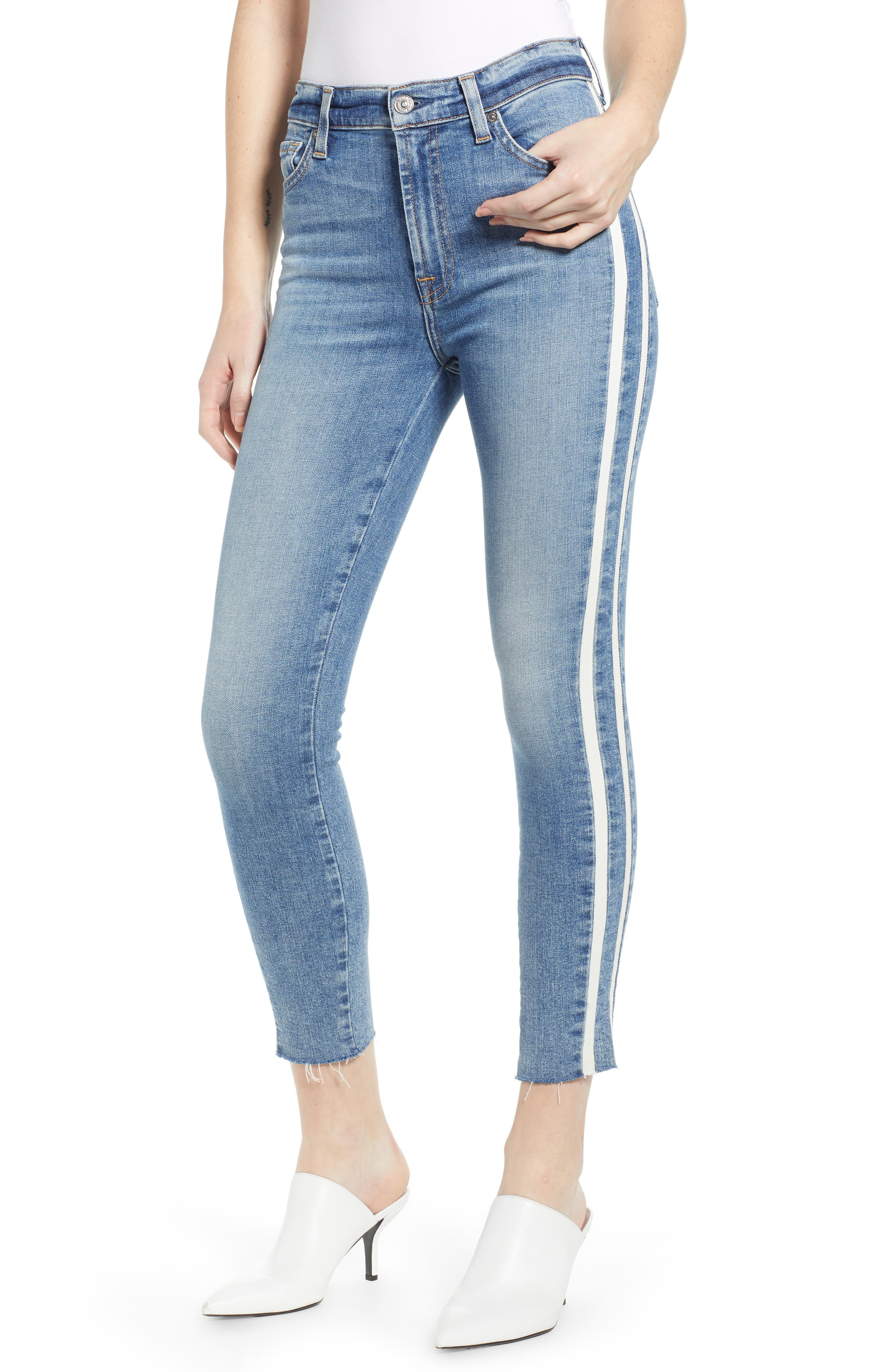 7 FOR ALL MANKIND<SUP>®</SUP>, Side Stripe Ankle Skinny Jeans, Main thumbnail 1, color, SLOANE VINTAGE