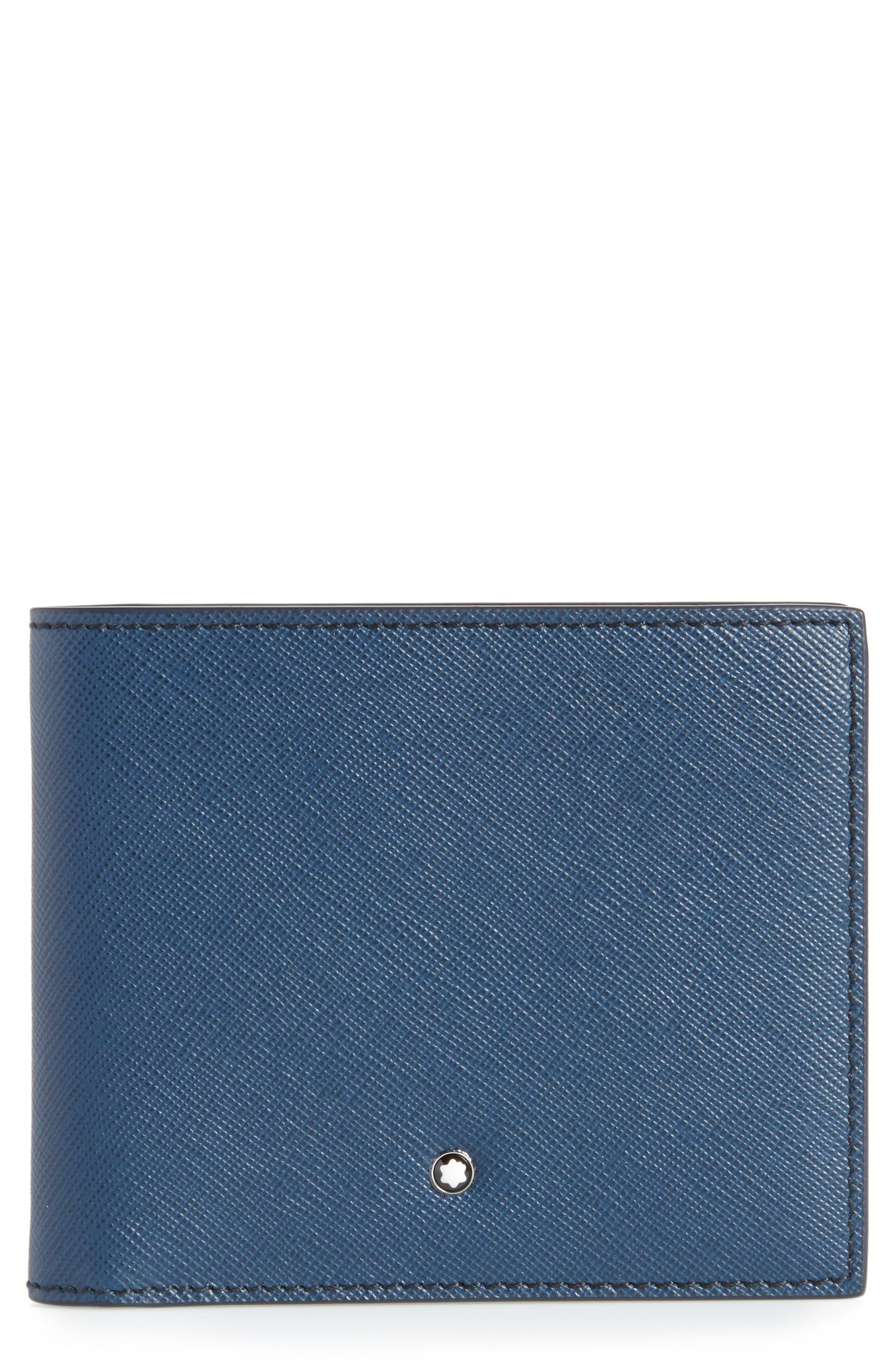 MONTBLANC Sartorial Leather Wallet, Main, color, INDIGO