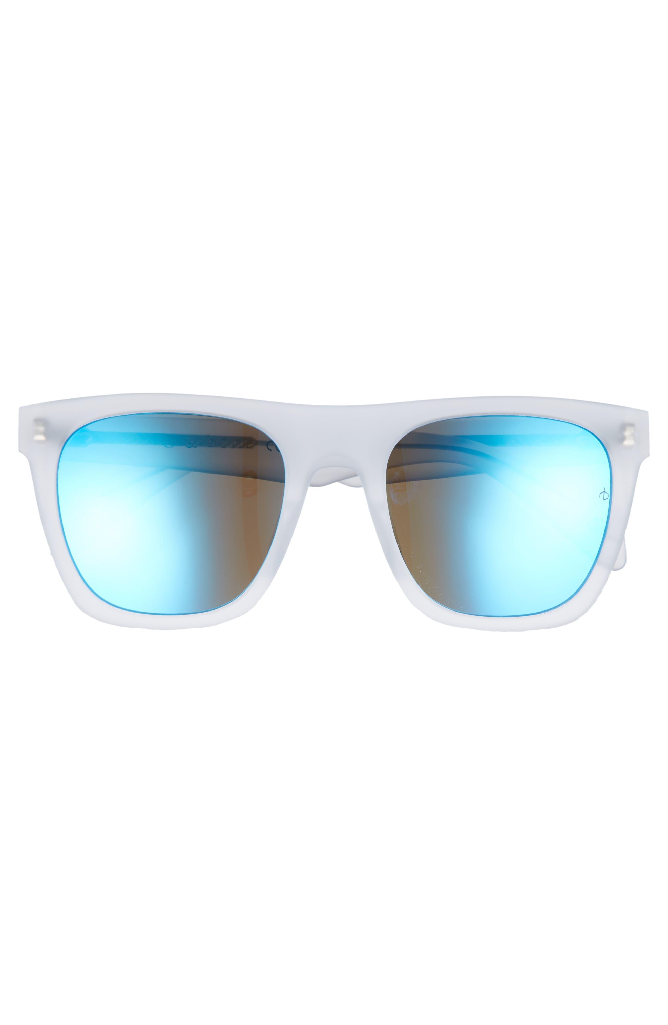 RAG & BONE, 54mm Polarized Sunglasses, Alternate thumbnail 2, color, MATTE CRYSTAL