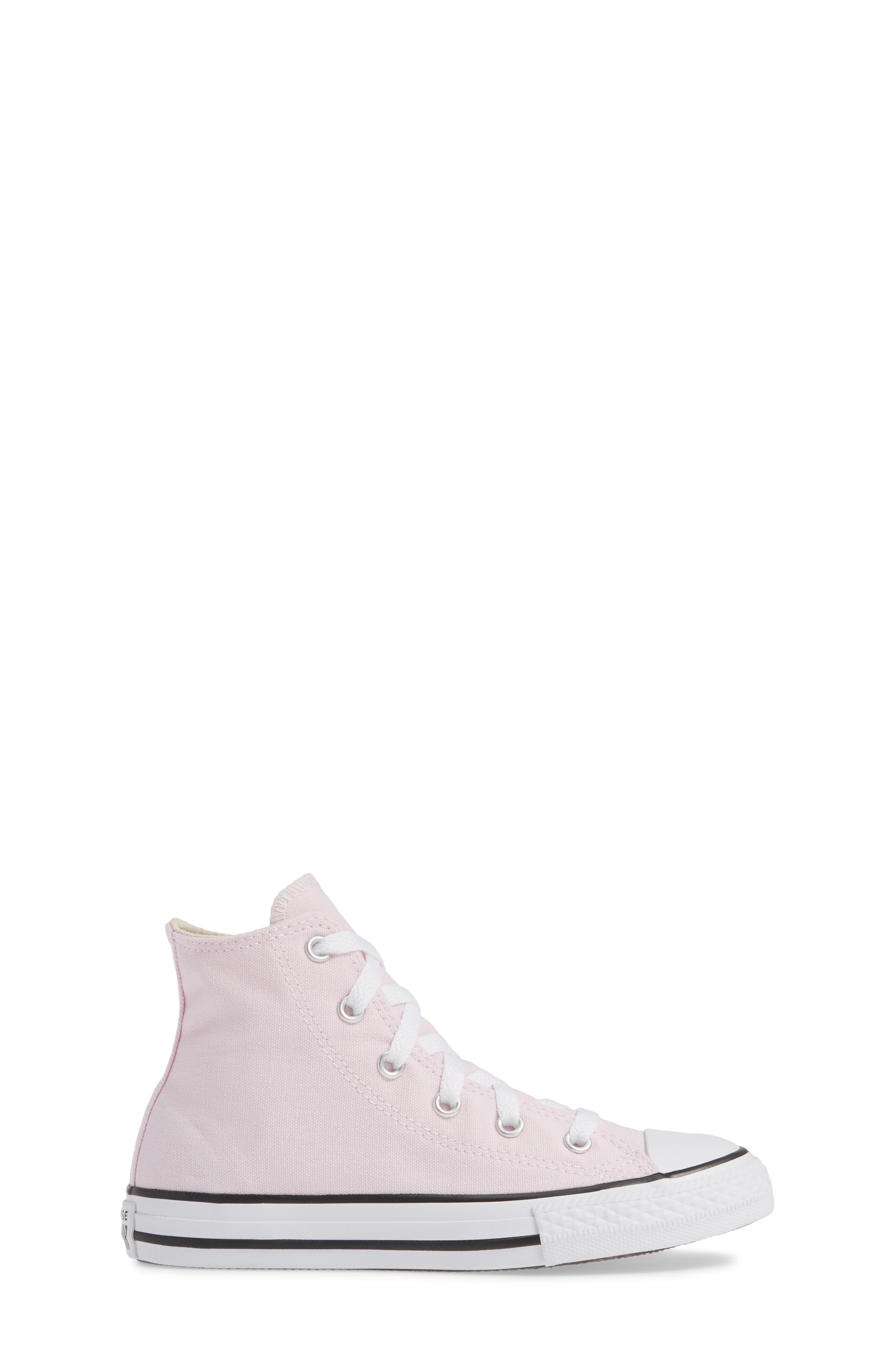 CONVERSE, Chuck Taylor<sup>®</sup> High Top Sneaker, Alternate thumbnail 3, color, PINK FOAM/ IVORY/ WHITE