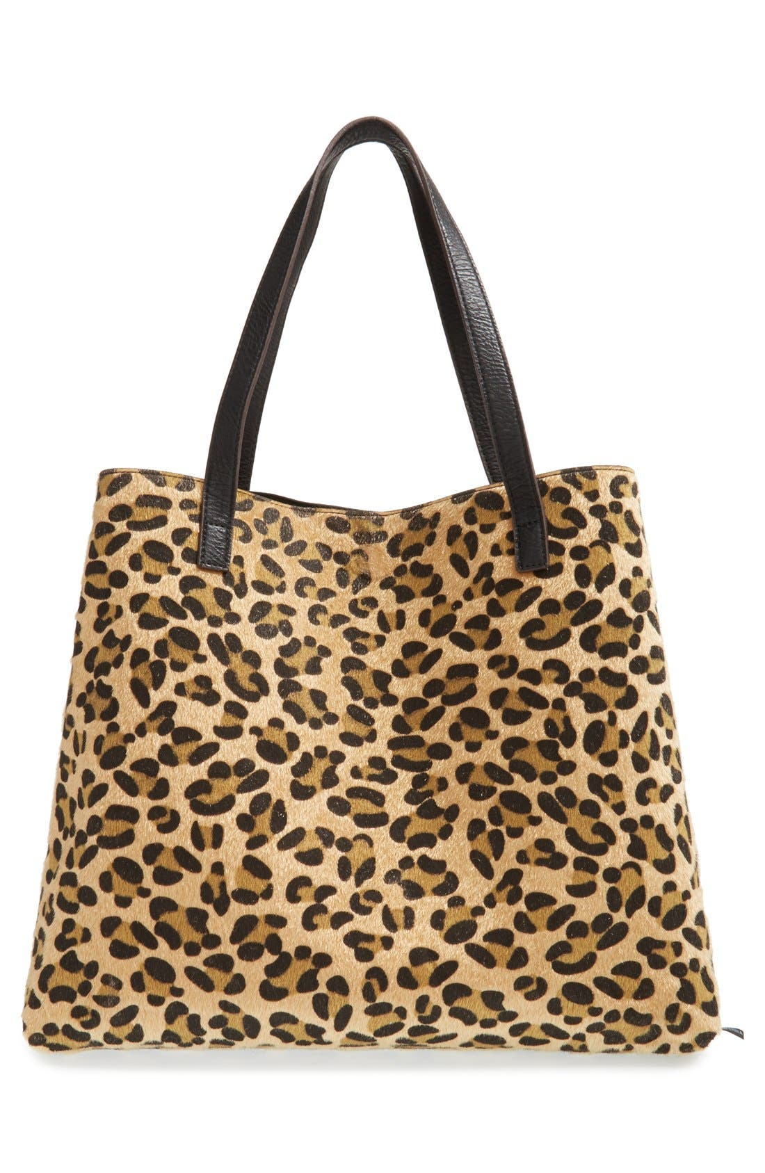 STREET LEVEL, Reversible Faux Leather Tote, Alternate thumbnail 6, color, 004
