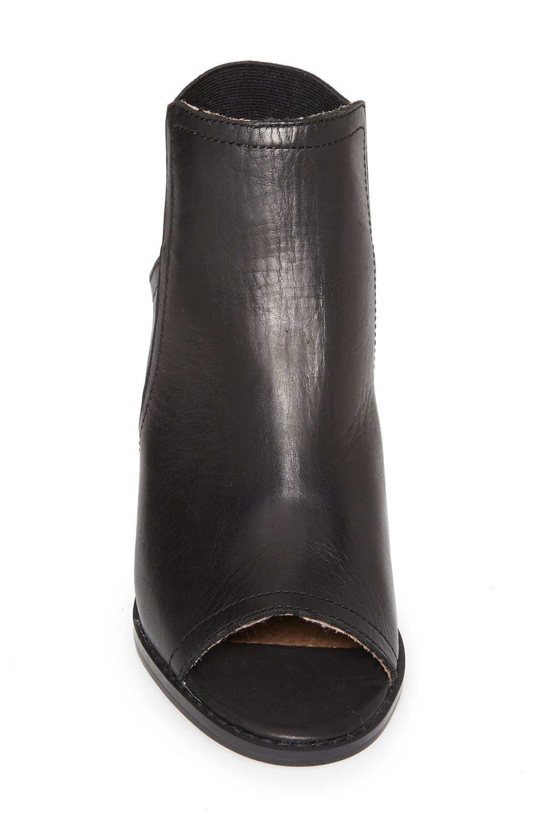 SIXTYSEVEN, 'Polly' Open Toe Bootie, Alternate thumbnail 3, color, 001