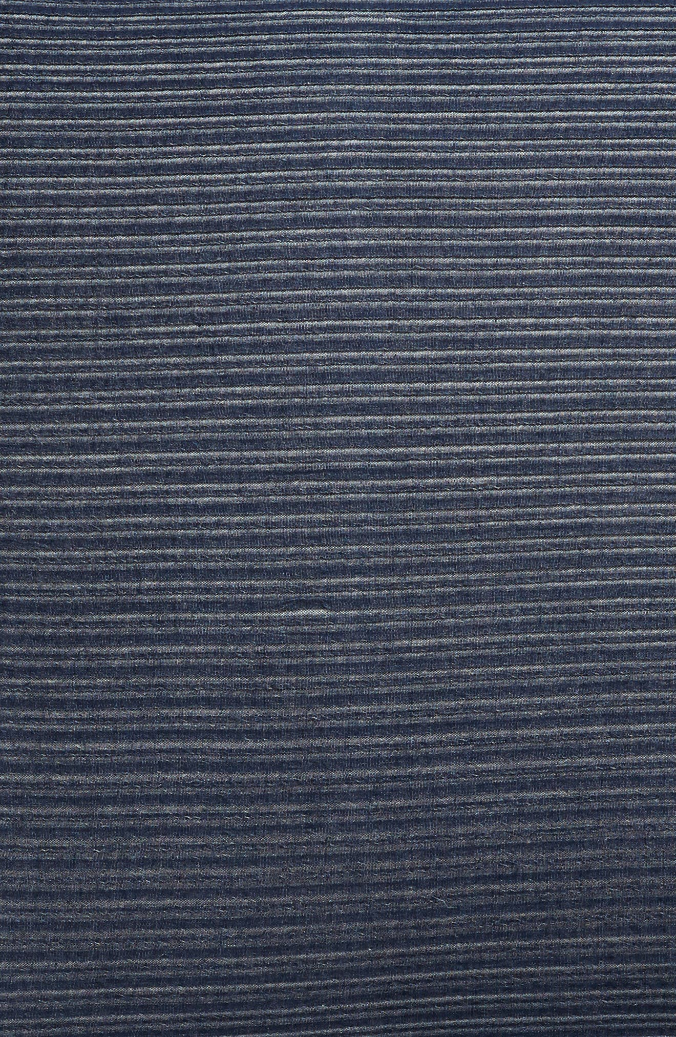 TREASURE & BOND, Textured Stripe Euro Sham, Alternate thumbnail 3, color, NAVY BLUE