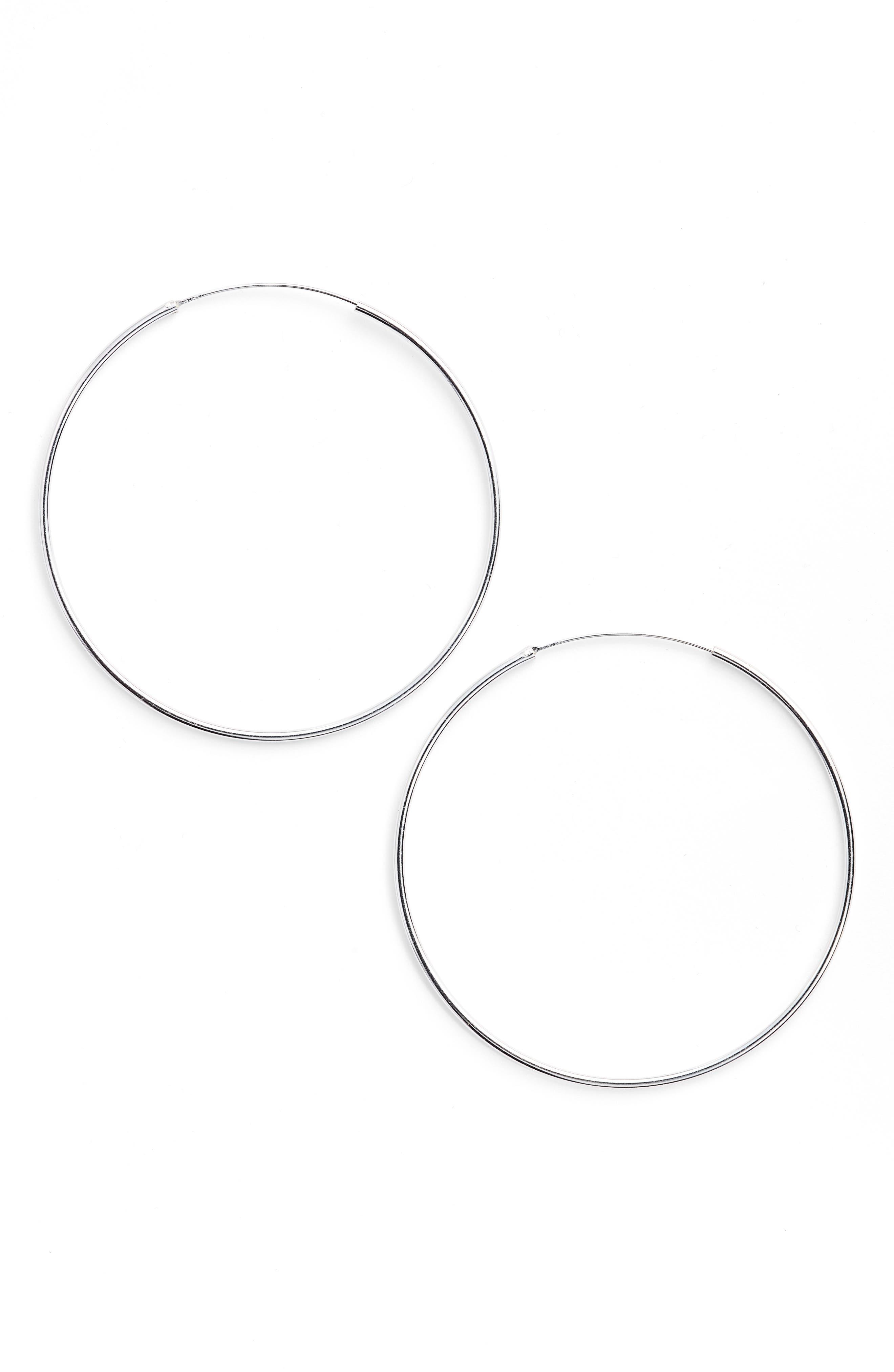 ARGENTO VIVO, Extra Large Endless Hoop Earrings, Main thumbnail 1, color, 040