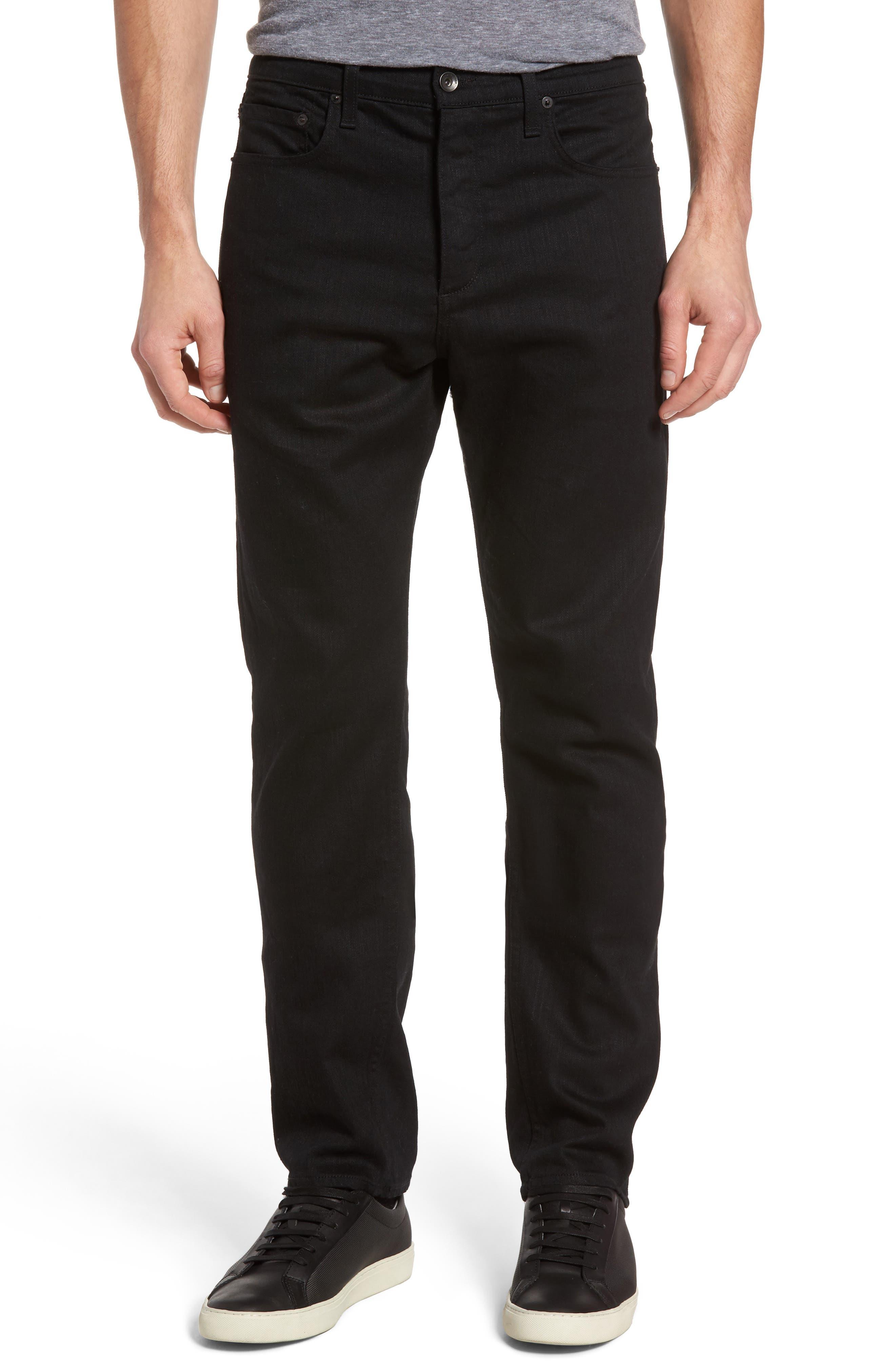 RAG & BONE, Fit 3 Slim Straight Leg Jeans, Main thumbnail 1, color, BLACK