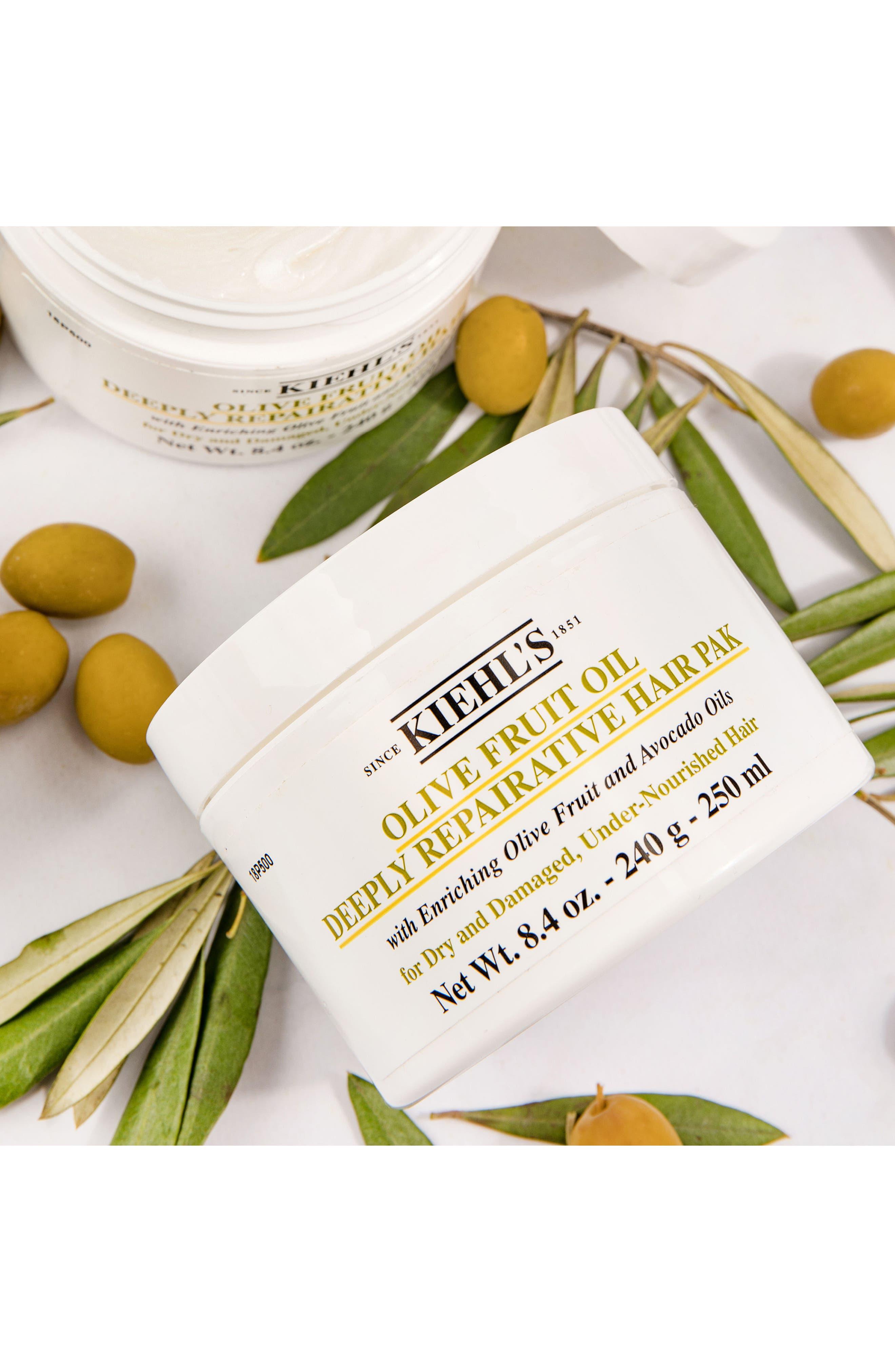 KIEHL'S SINCE 1851, Olive Fruit Oil Repairing Hair Masque, Alternate thumbnail 3, color, 000
