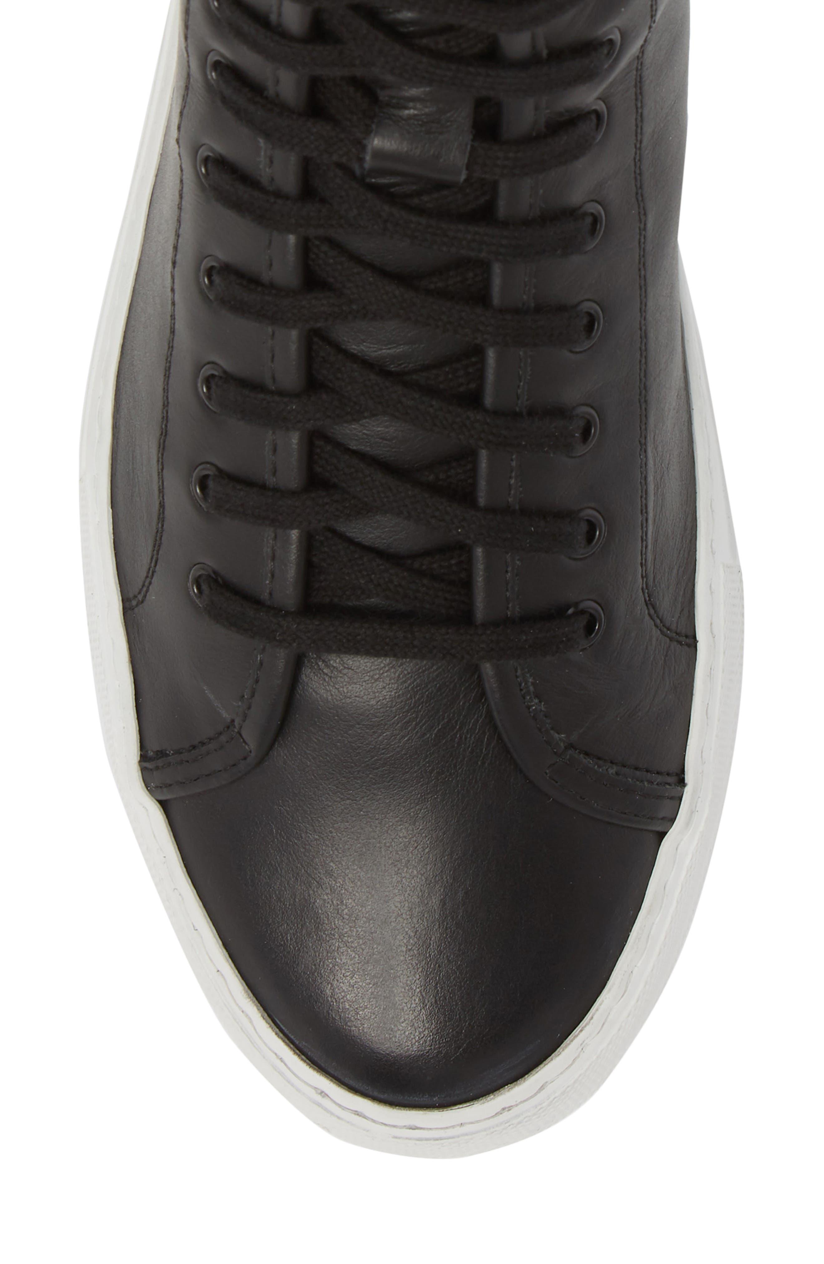 COMMON PROJECTS, Tournament High Super Sneaker, Alternate thumbnail 5, color, BLACK/ WHITE