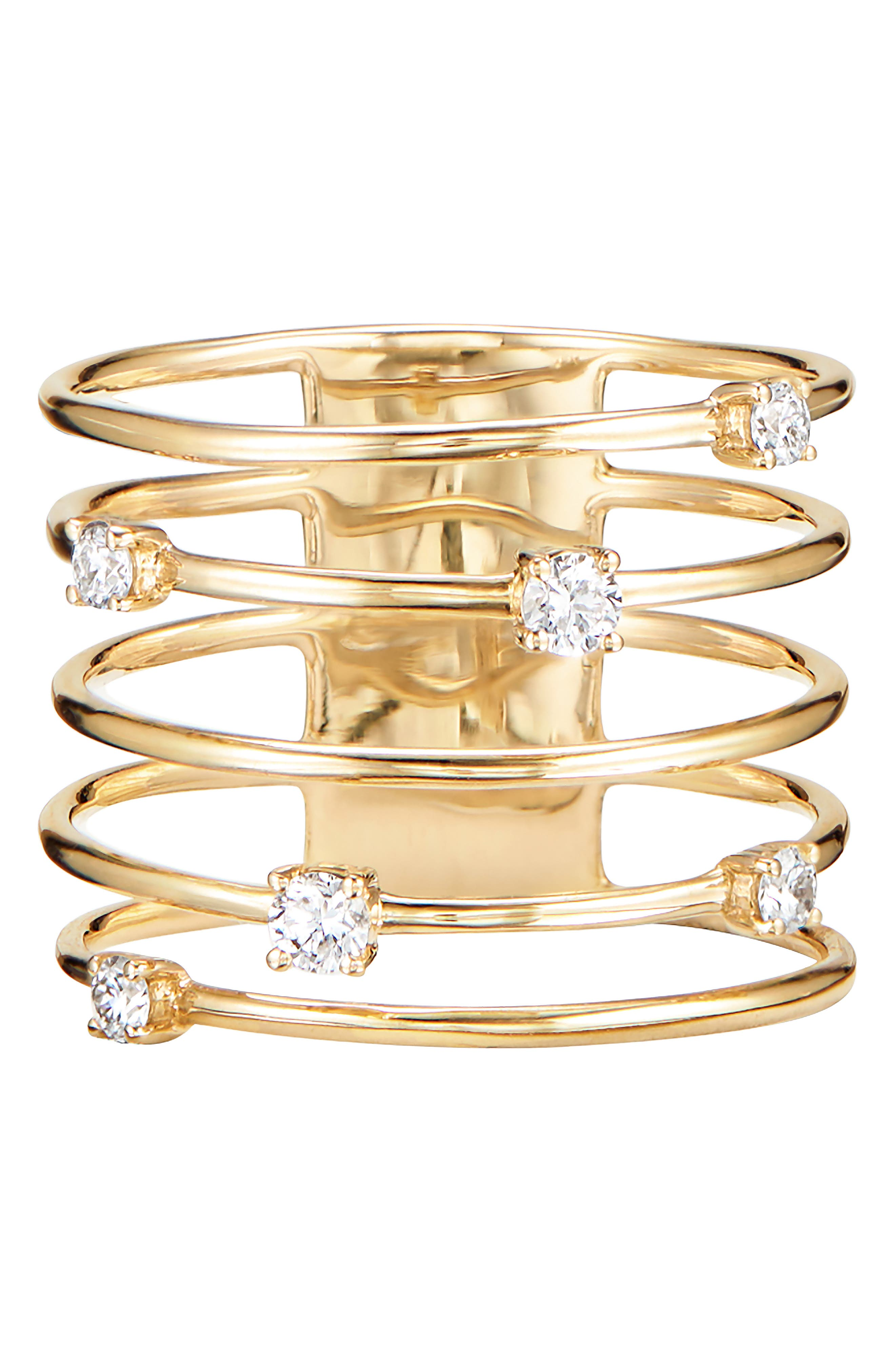 LANA JEWELRY, Wire Crown Ring, Main thumbnail 1, color, 710