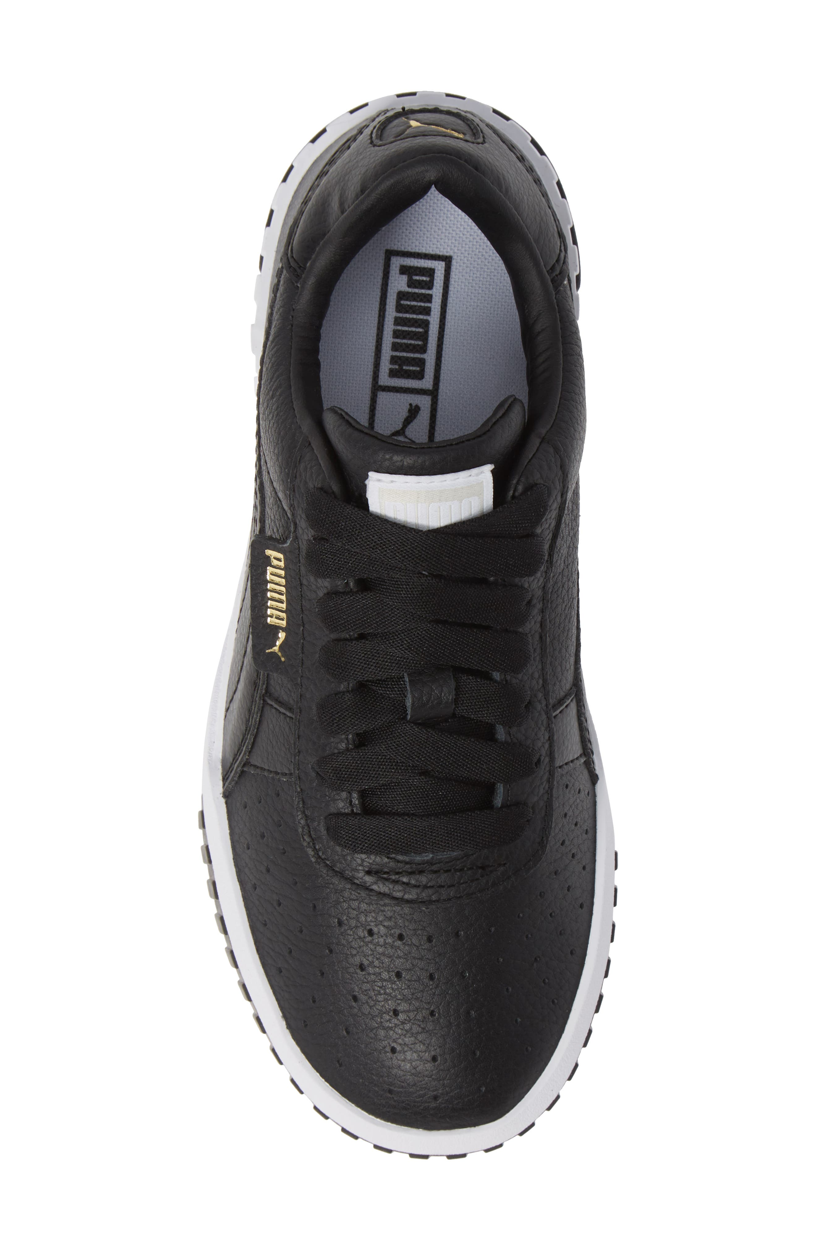 PUMA, Cali Sneaker, Alternate thumbnail 5, color, PUMA BLACK/ PUMA WHITE