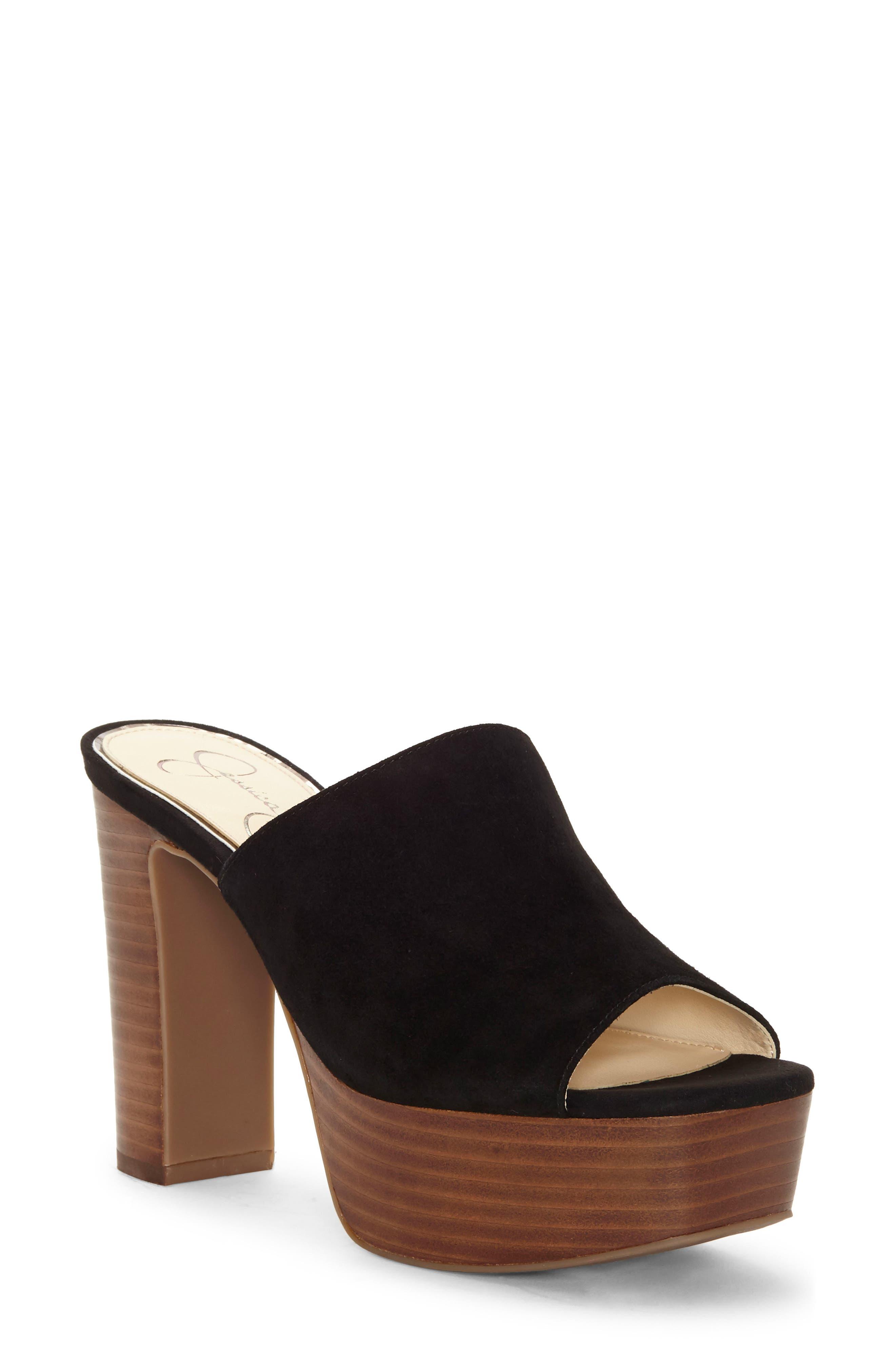 Jessica Simpson Camree Platform Sandal, Black