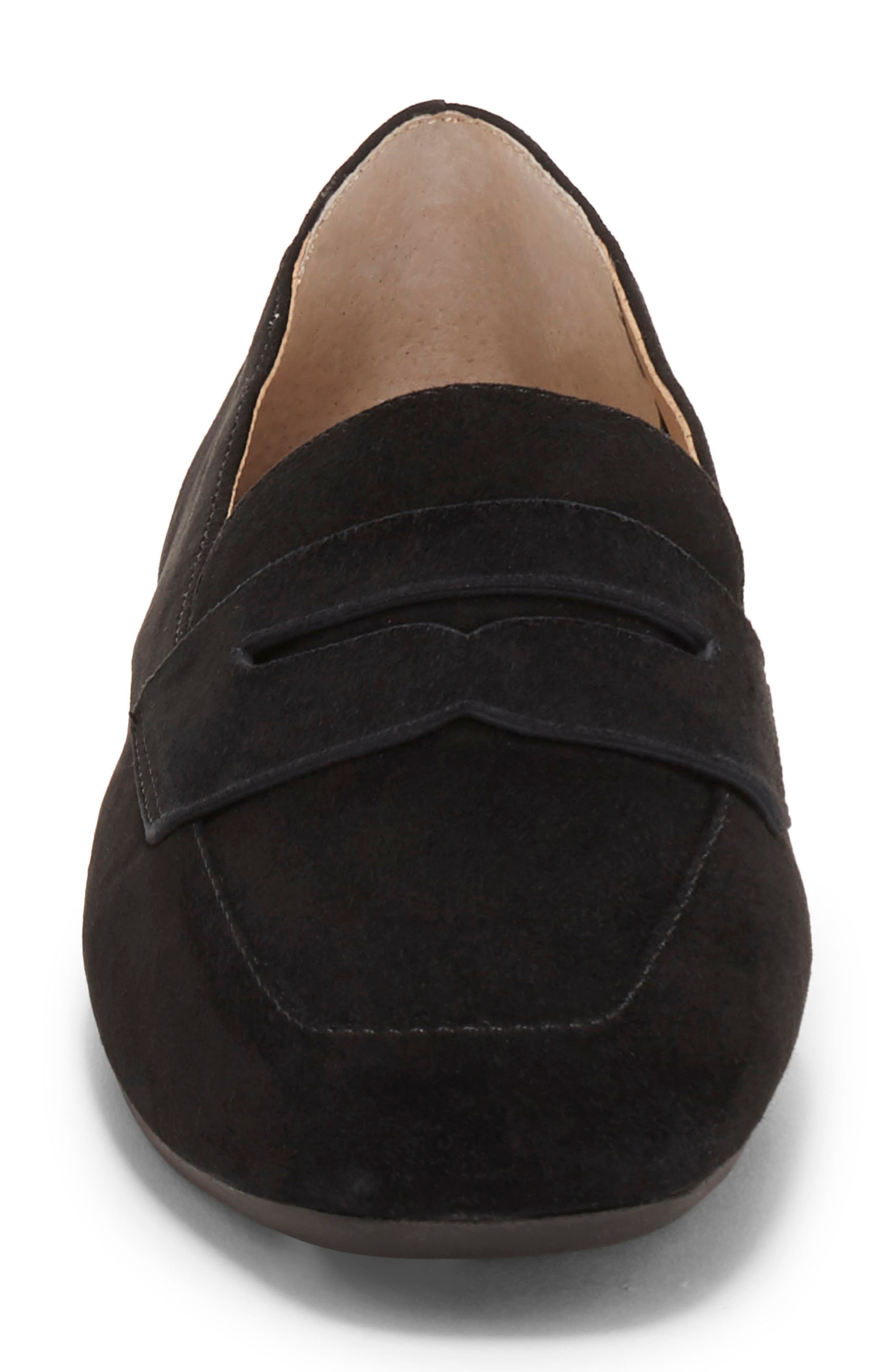 ENZO ANGIOLINI, Leeba Loafer, Alternate thumbnail 4, color, BLACK SUEDE