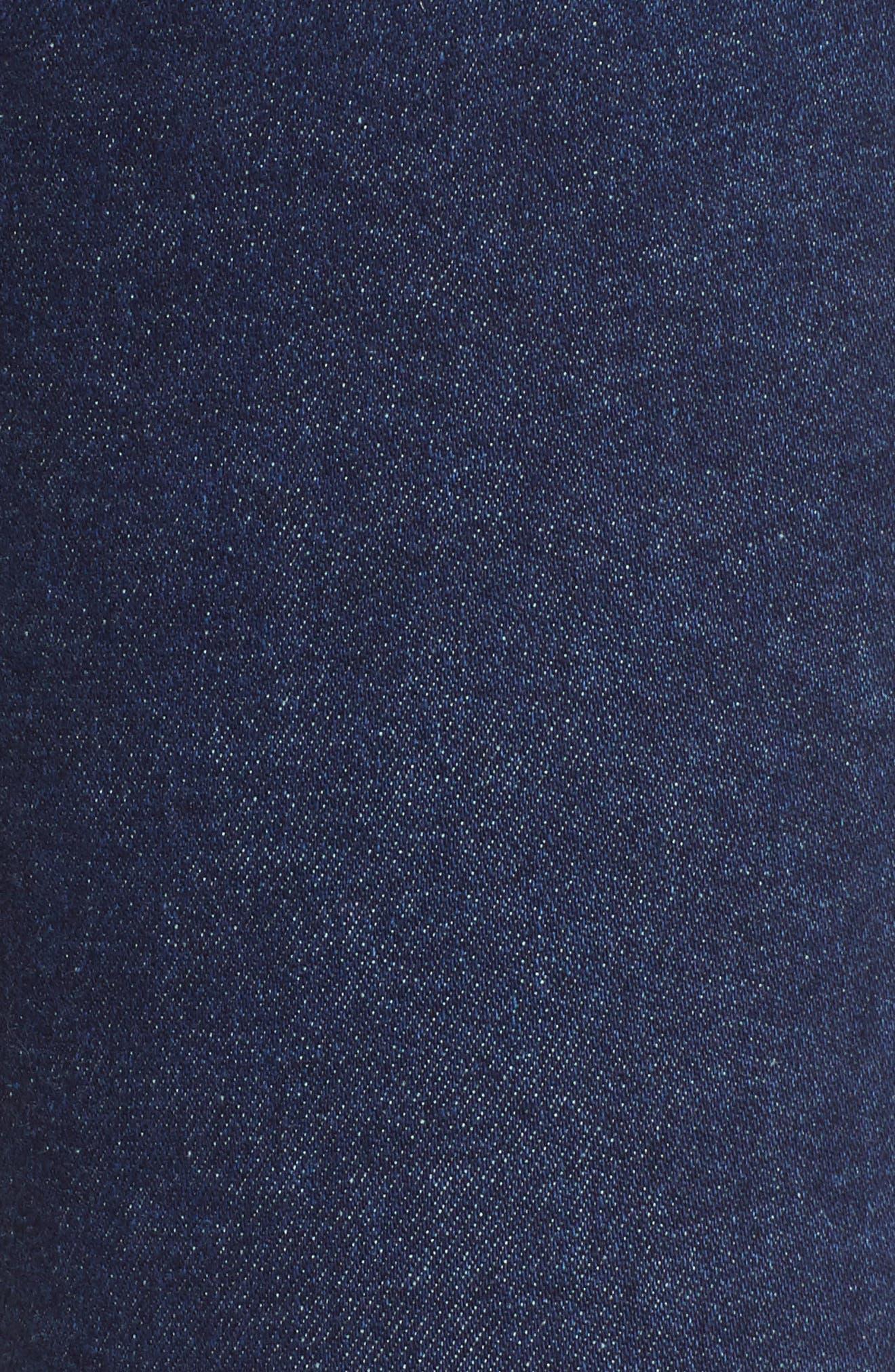 TOPSHOP, MOTO Jamie High Waist Skinny Jeans, Alternate thumbnail 6, color, INDIGO