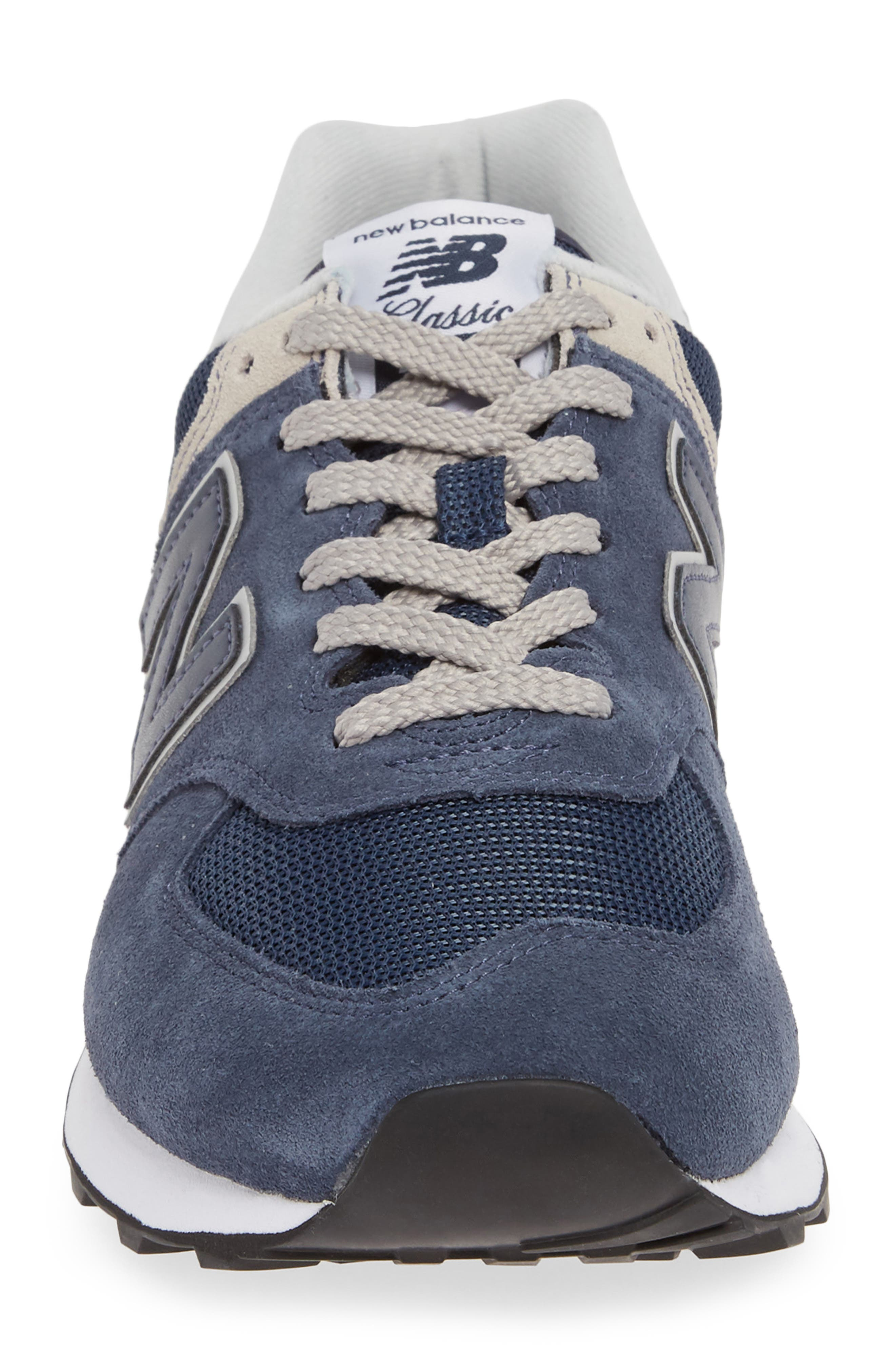 NEW BALANCE, 574 Classic Sneaker, Alternate thumbnail 4, color, BLACK IRIS