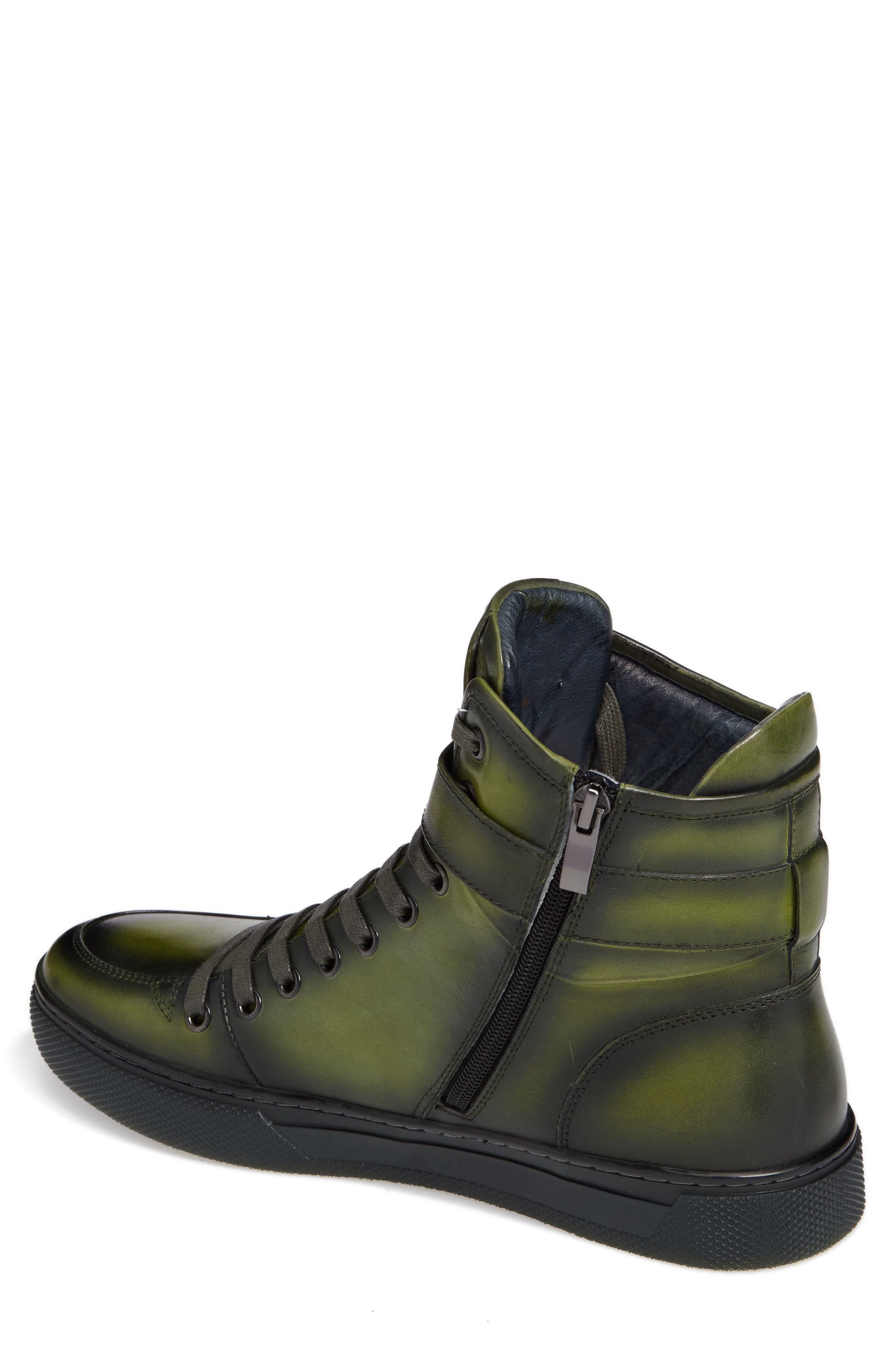 JUMP, Sullivan High Top Sneaker, Alternate thumbnail 2, color, AMAZON GREEN