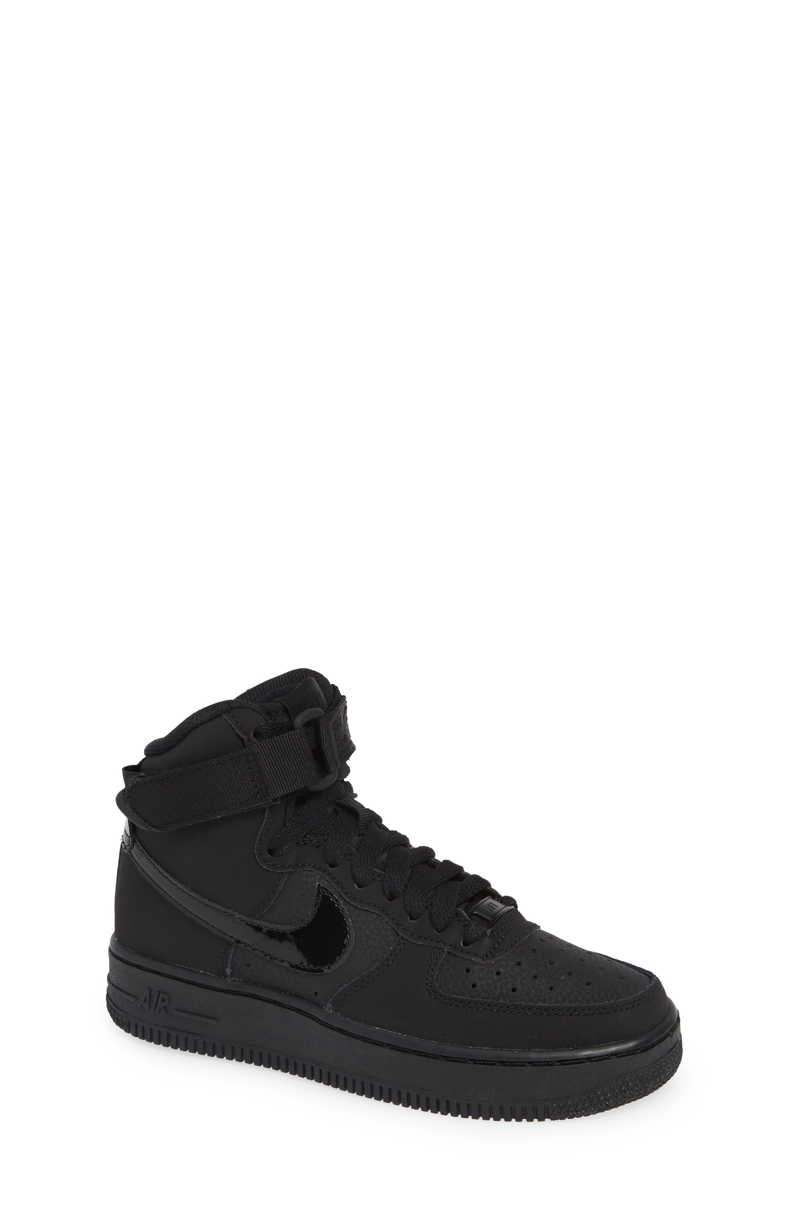 NIKE, Air Force 1 High Top Sneaker, Main thumbnail 1, color, 001