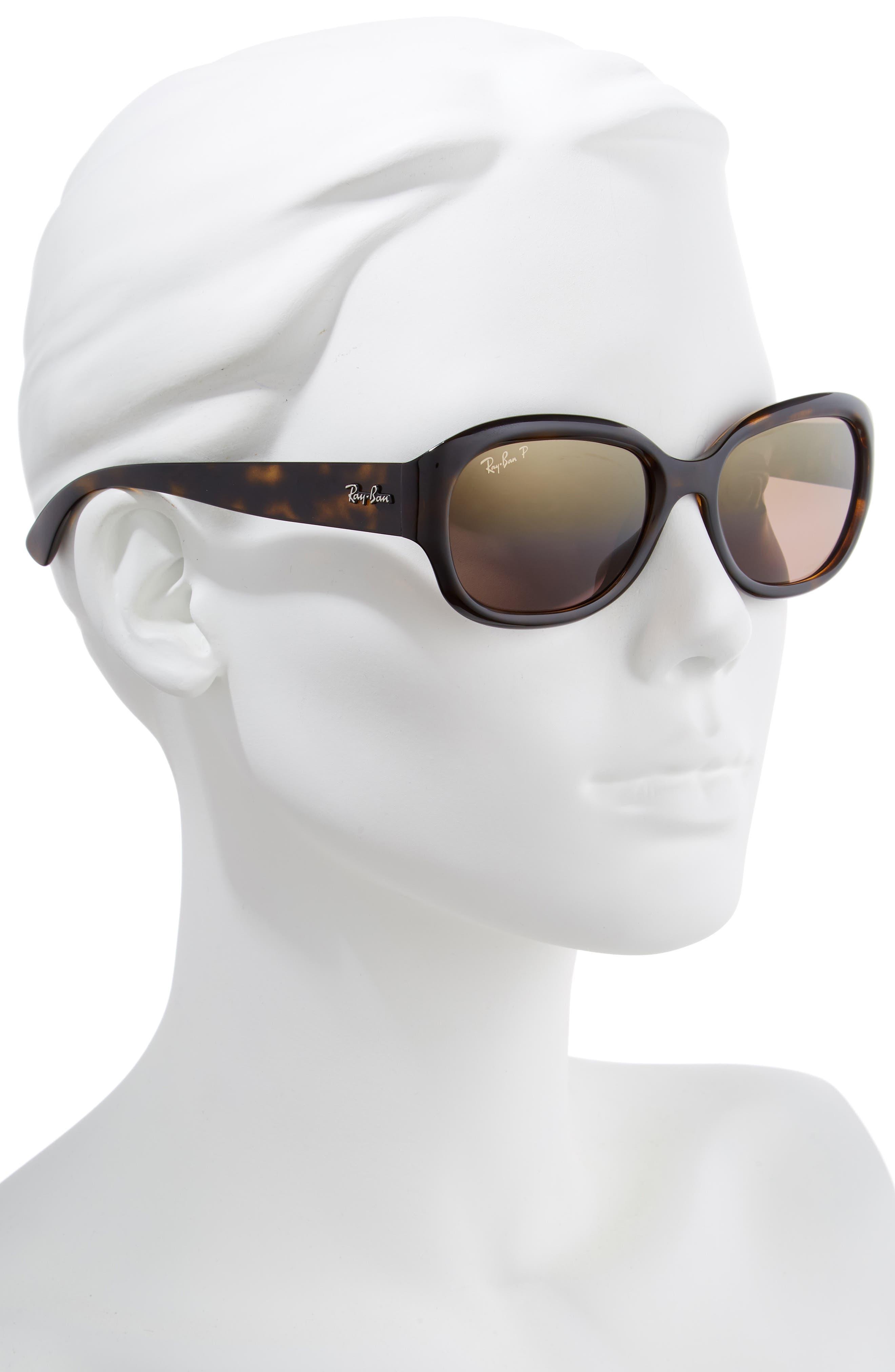 RAY-BAN, 55mm Chromance Polarized Sunglasses, Alternate thumbnail 2, color, HAVANA/ GRADIENT MIRROR